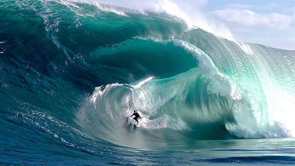 A still from short film, The Big Wave Project. (Tim Bonython)