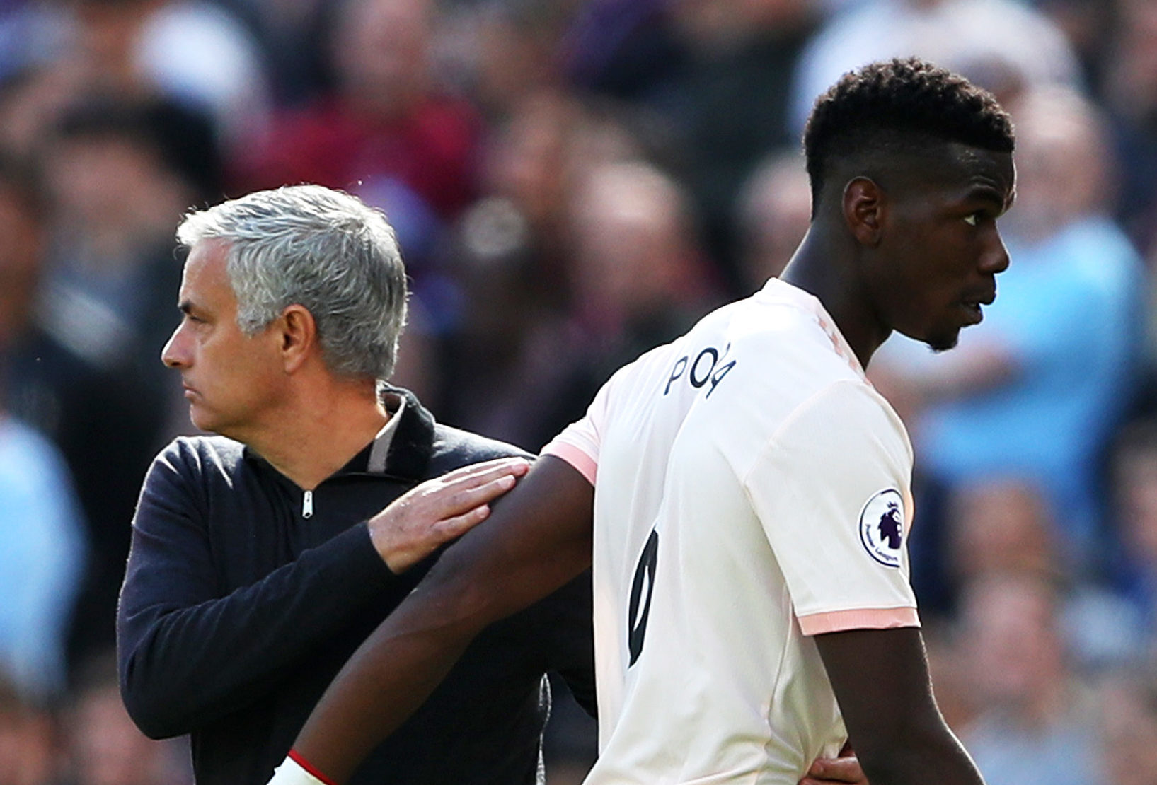 Jose Mourinho and Paul Pogba are not seeing eye to eye right now (Warren Little/Getty Images)