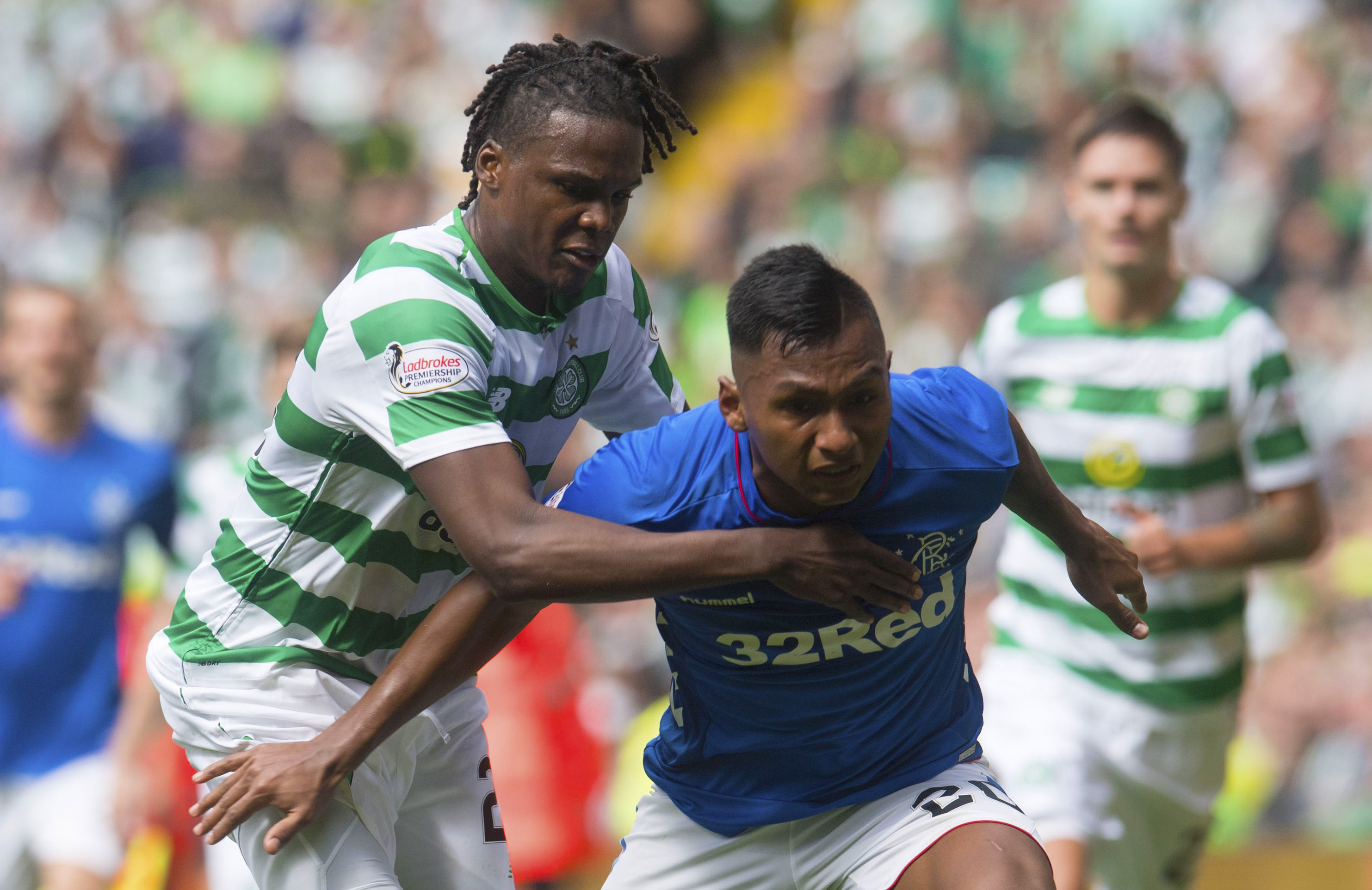 There's no doubting the competitiveness of Dedryck Boyata and Alfredo Morelos – just their temperament (SNS Group / Craig Foy)