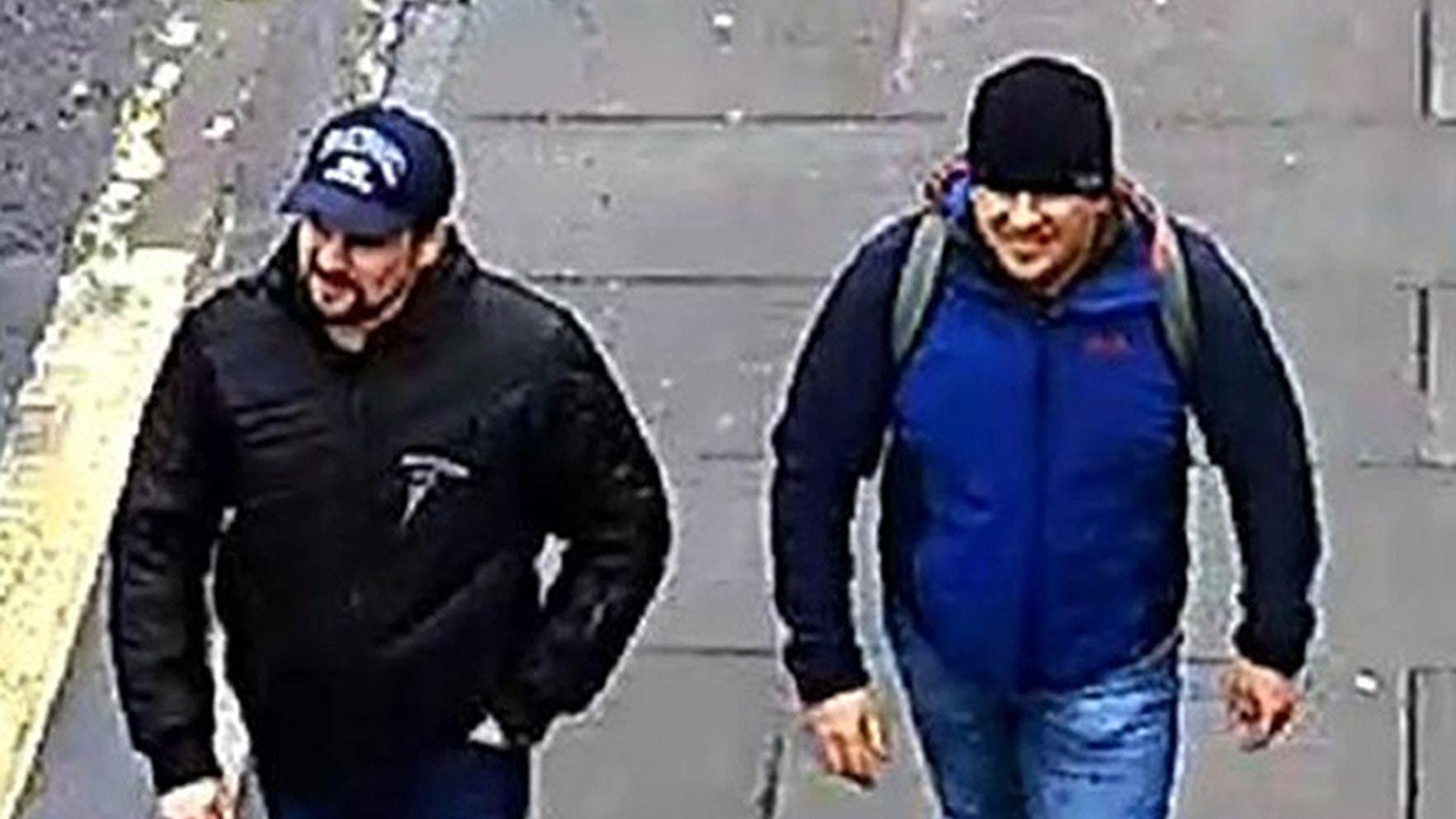 Suspects Ruslan Boshirov and Alexander Petrov