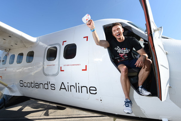 TV's Sean Batty, jetting off to Shetland for a Tunnock's tea party to help Ross raise cash