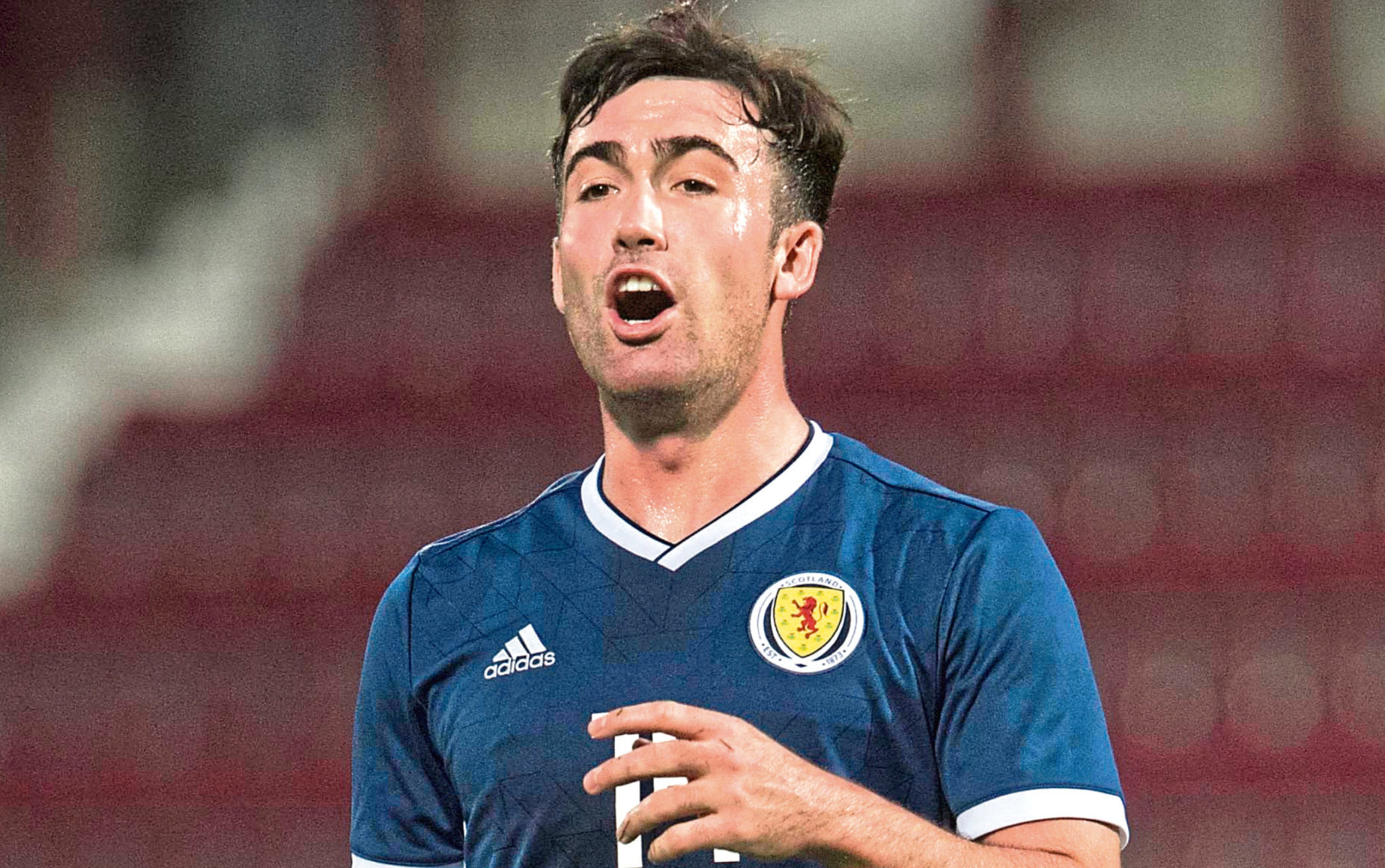 Scotland's Stevie Mallan in action (SNS Group)
