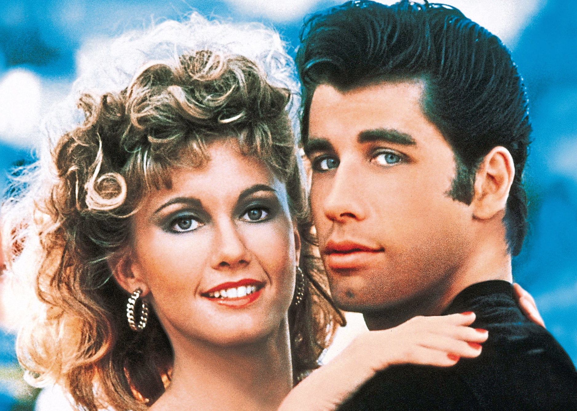 Olivia Newton-John and John Travolta in their starring roles