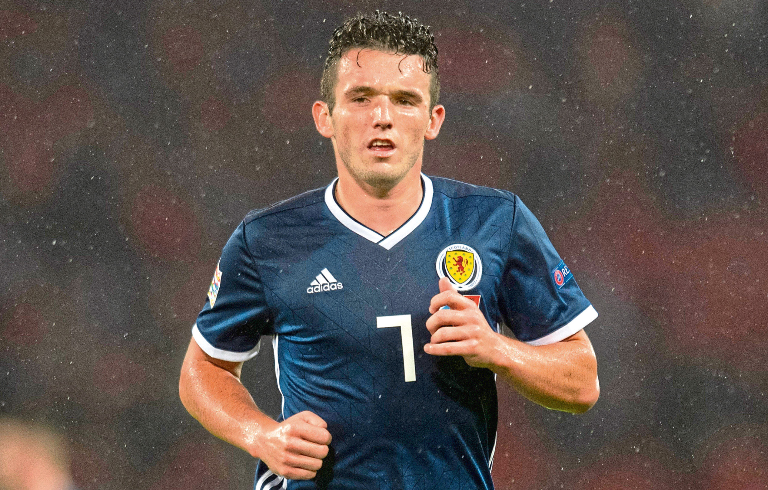 John McGinn in action for Scotland (SNS Group)