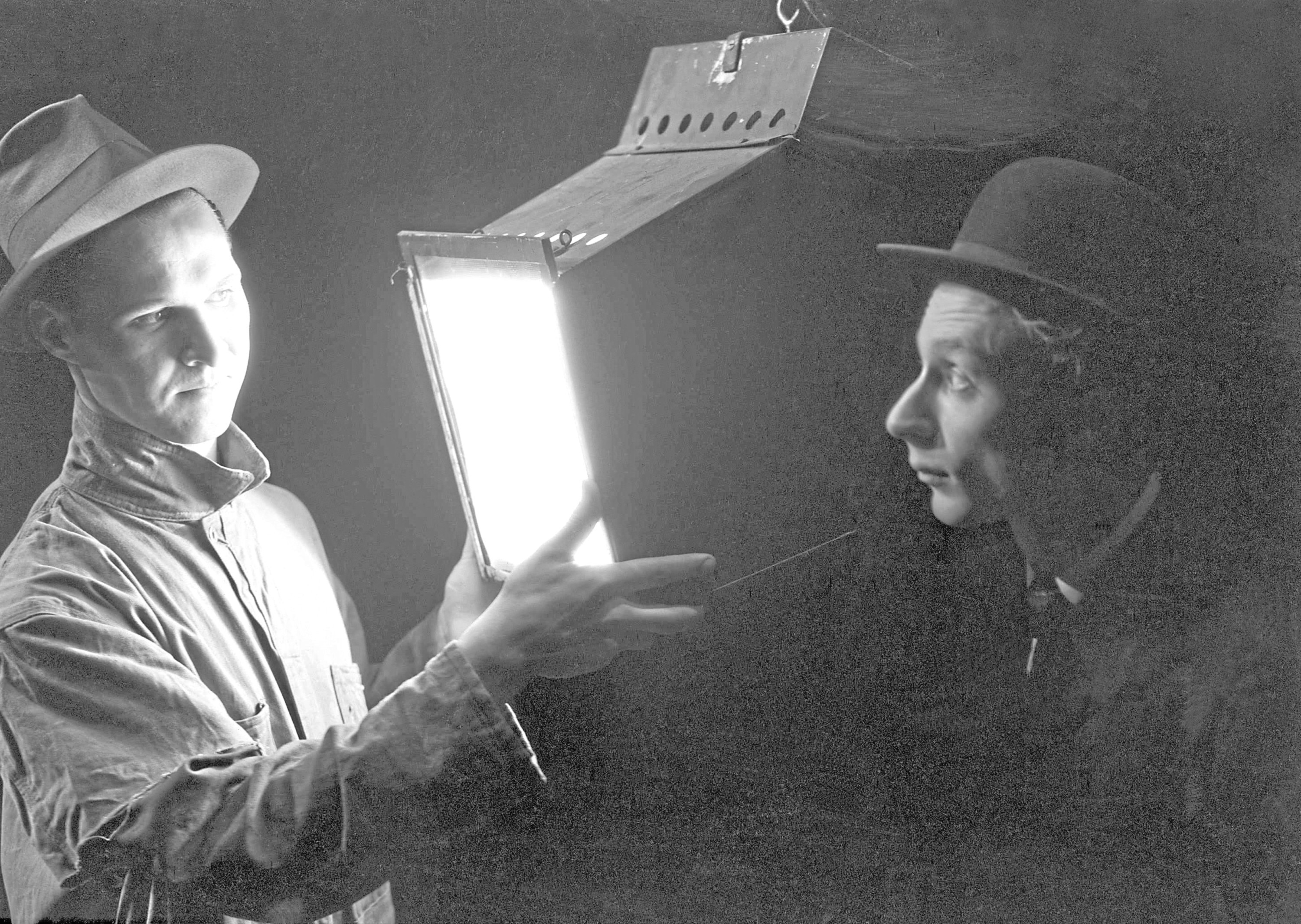 Lights, camera and action for Norman Lloyd, right, in the Hollywood heyday