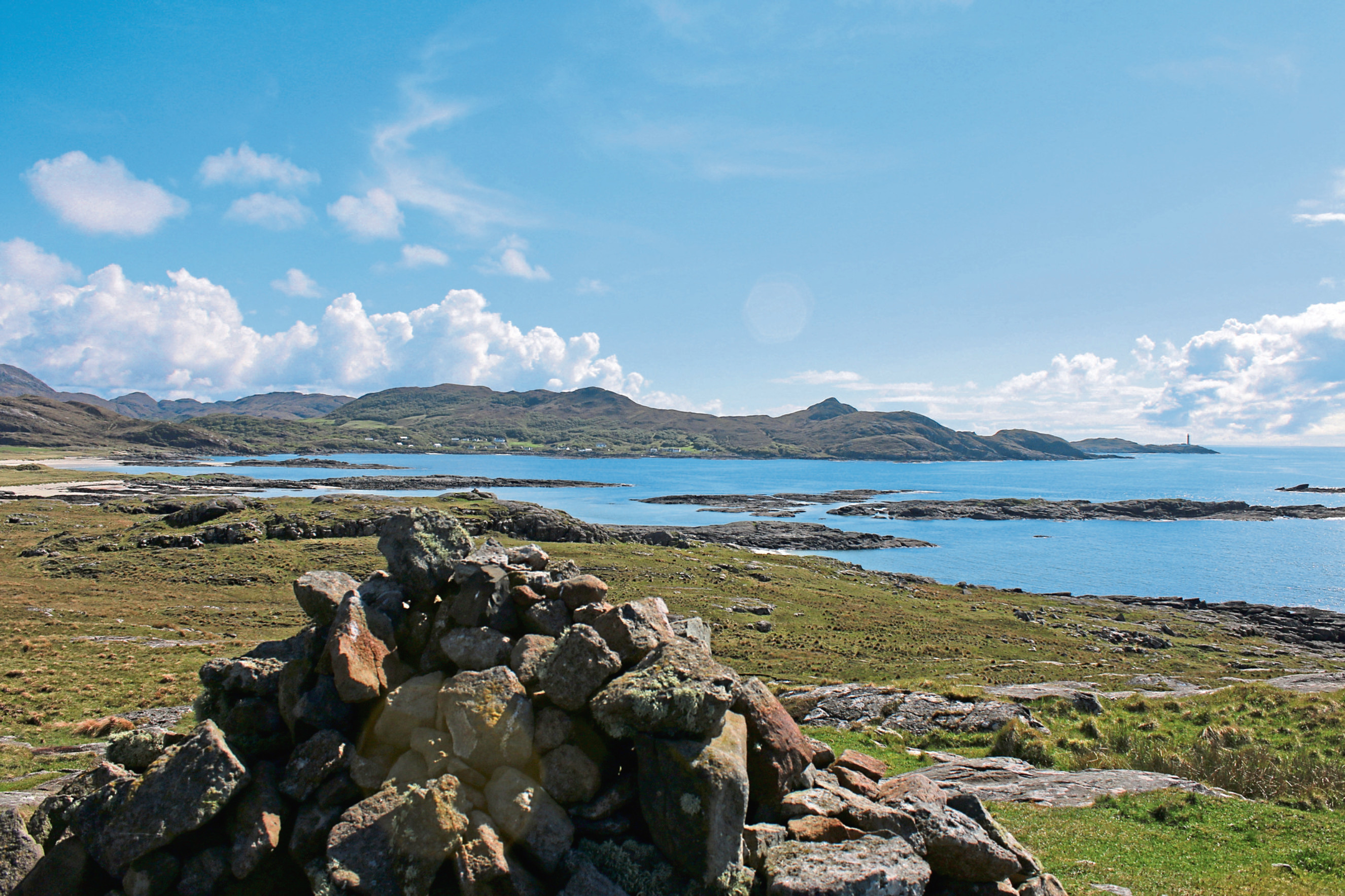 The gorgeous Sanna Bay looks over to Ardnamurchan Point