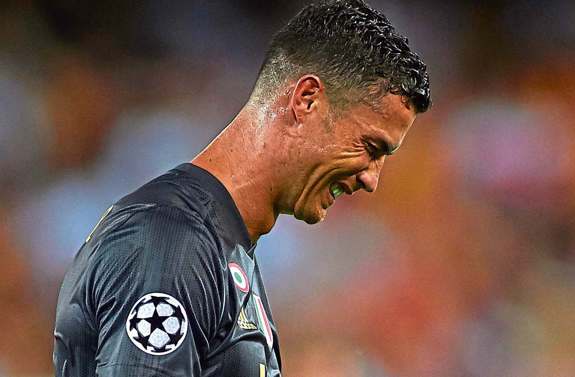 Cristano Ronaldo of Juventus reacts after his red card (Manuel Queimadelos Alonso/Getty Images)