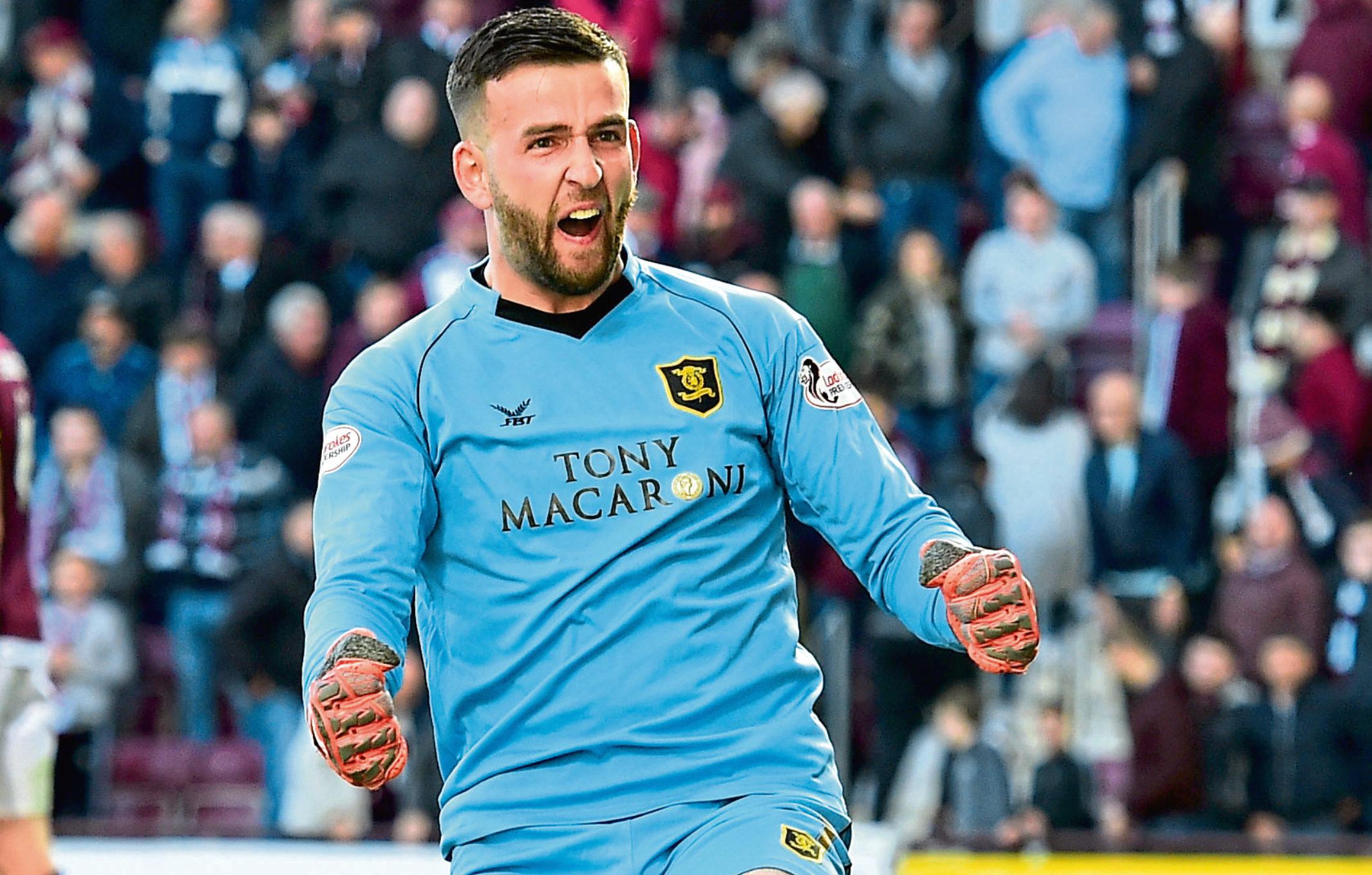 Livingston goalkeeper Liam Kelly (SNS Group)