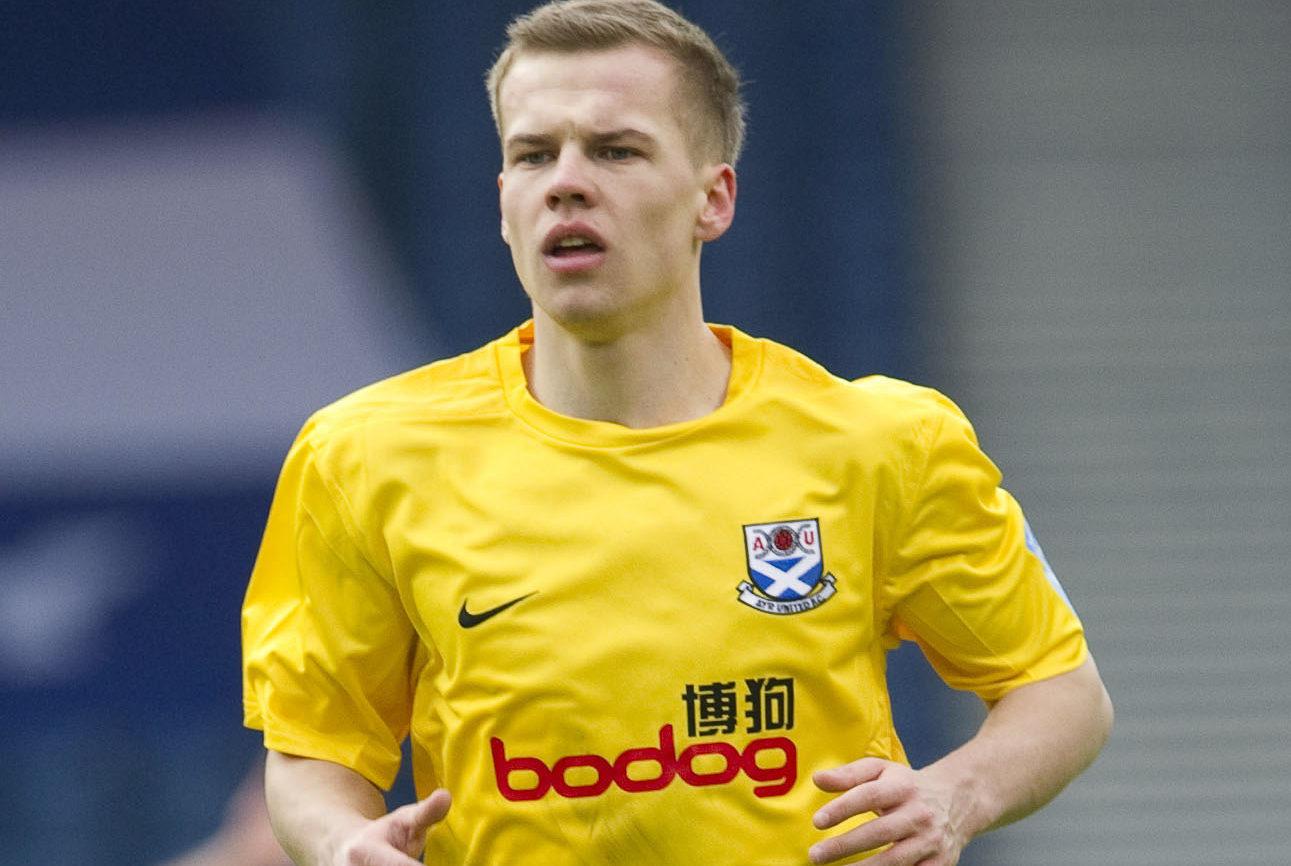 Jonathan Tiffoney in action for Ayr Utd.