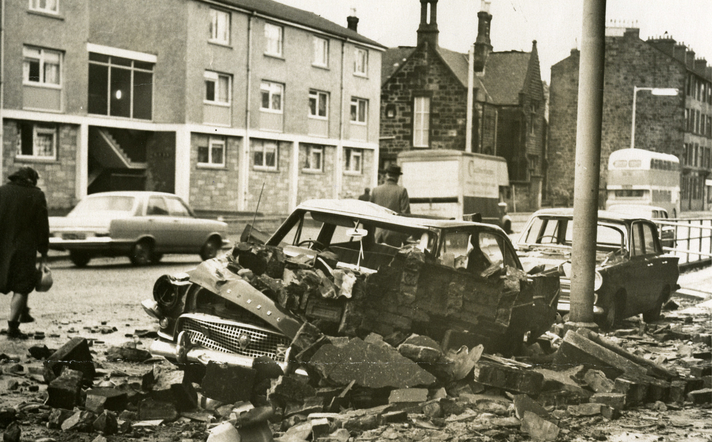 The damage in Paisley caused by the Great Storm of 1968 (DC Thomson)