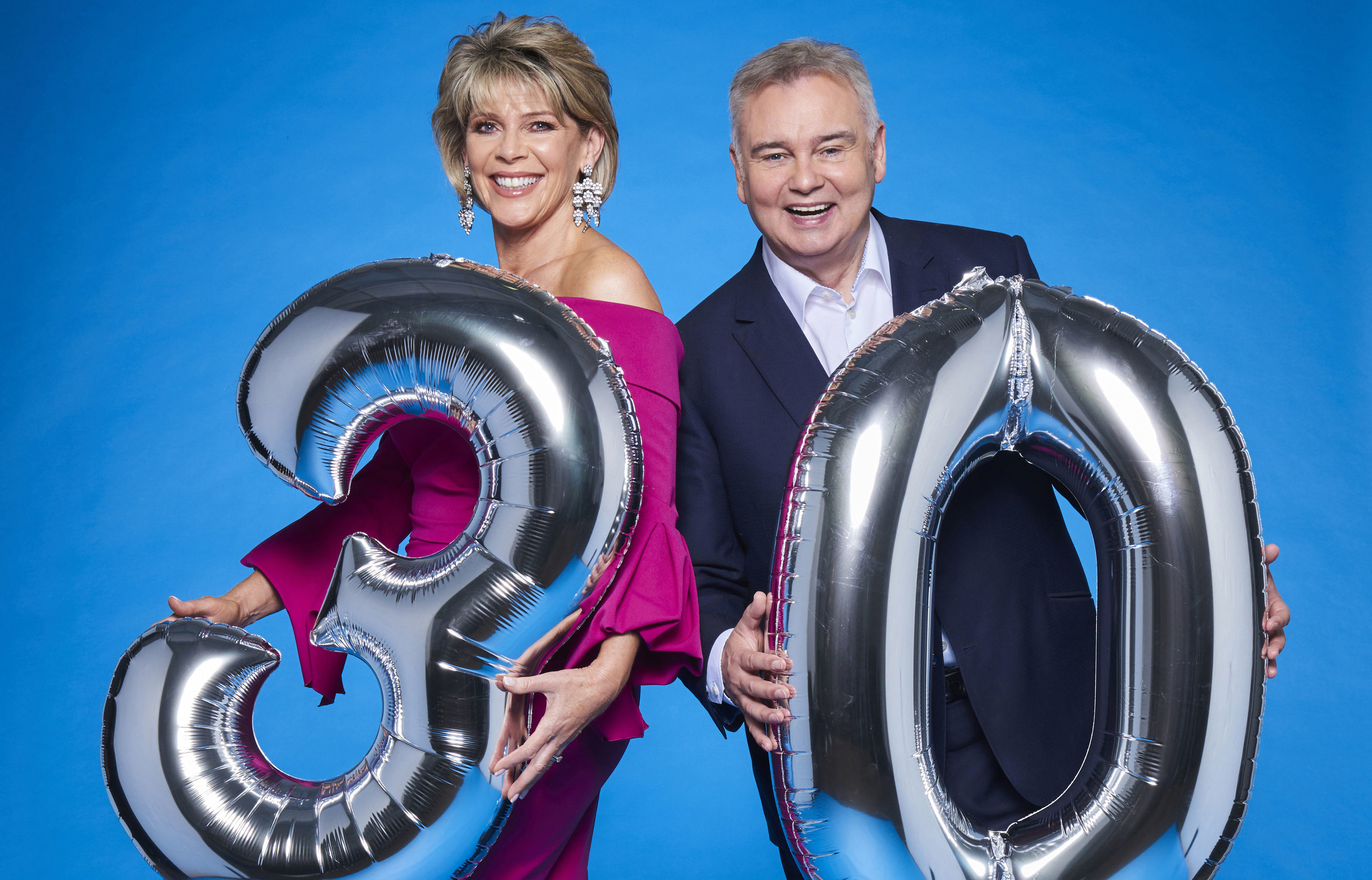 Eamonn Holmes and Ruth Langford celebrate 30 years of This Morning (ITV / Ken McKay)