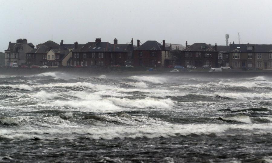 Stormy seas at Troon