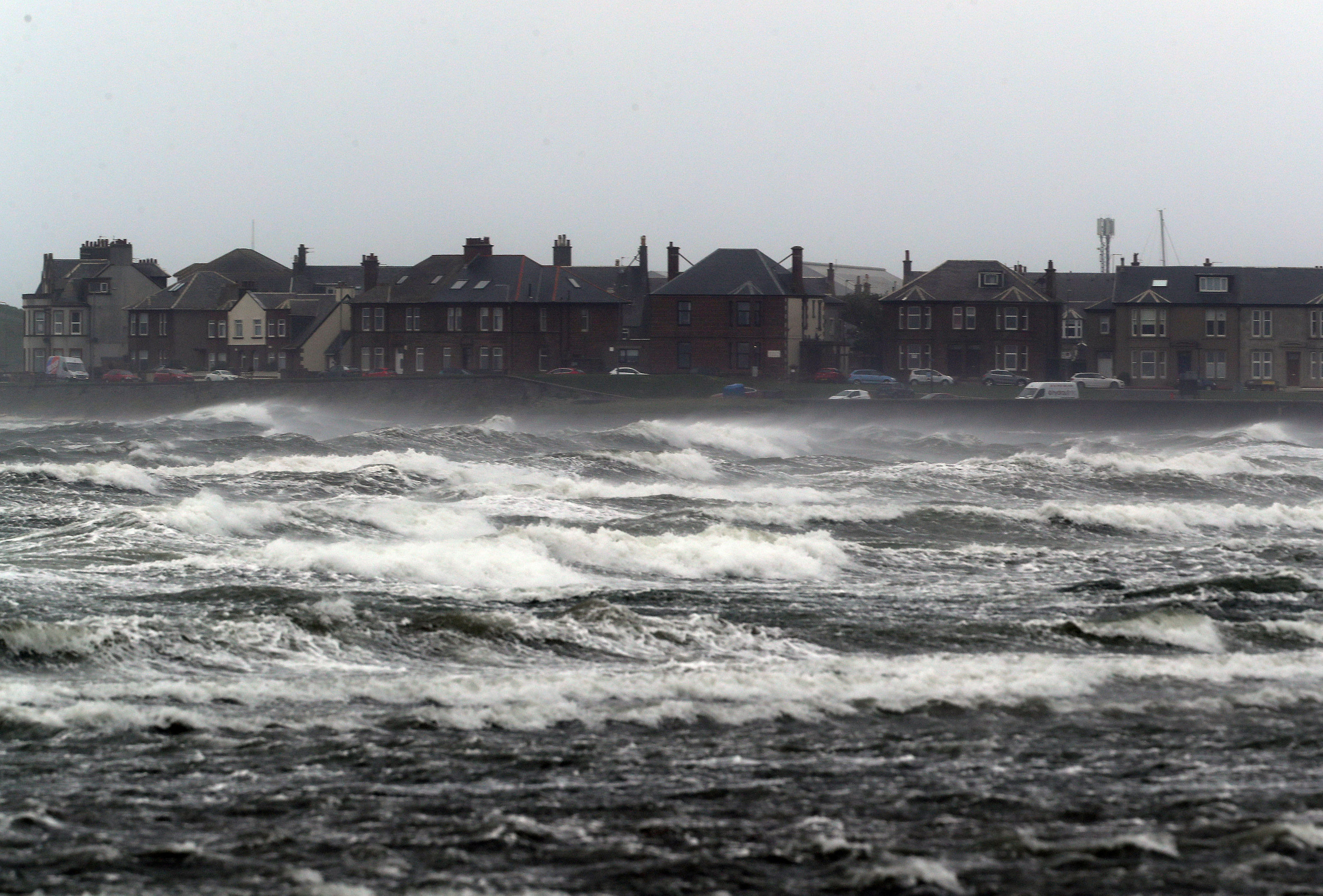 Stormy seas at Troon (Andrew Milligan/PA Wire)