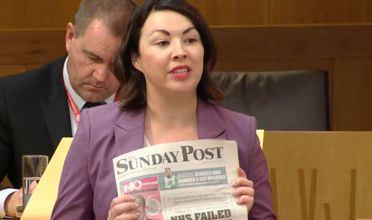 Monica Lennon raised our story at FMQs today