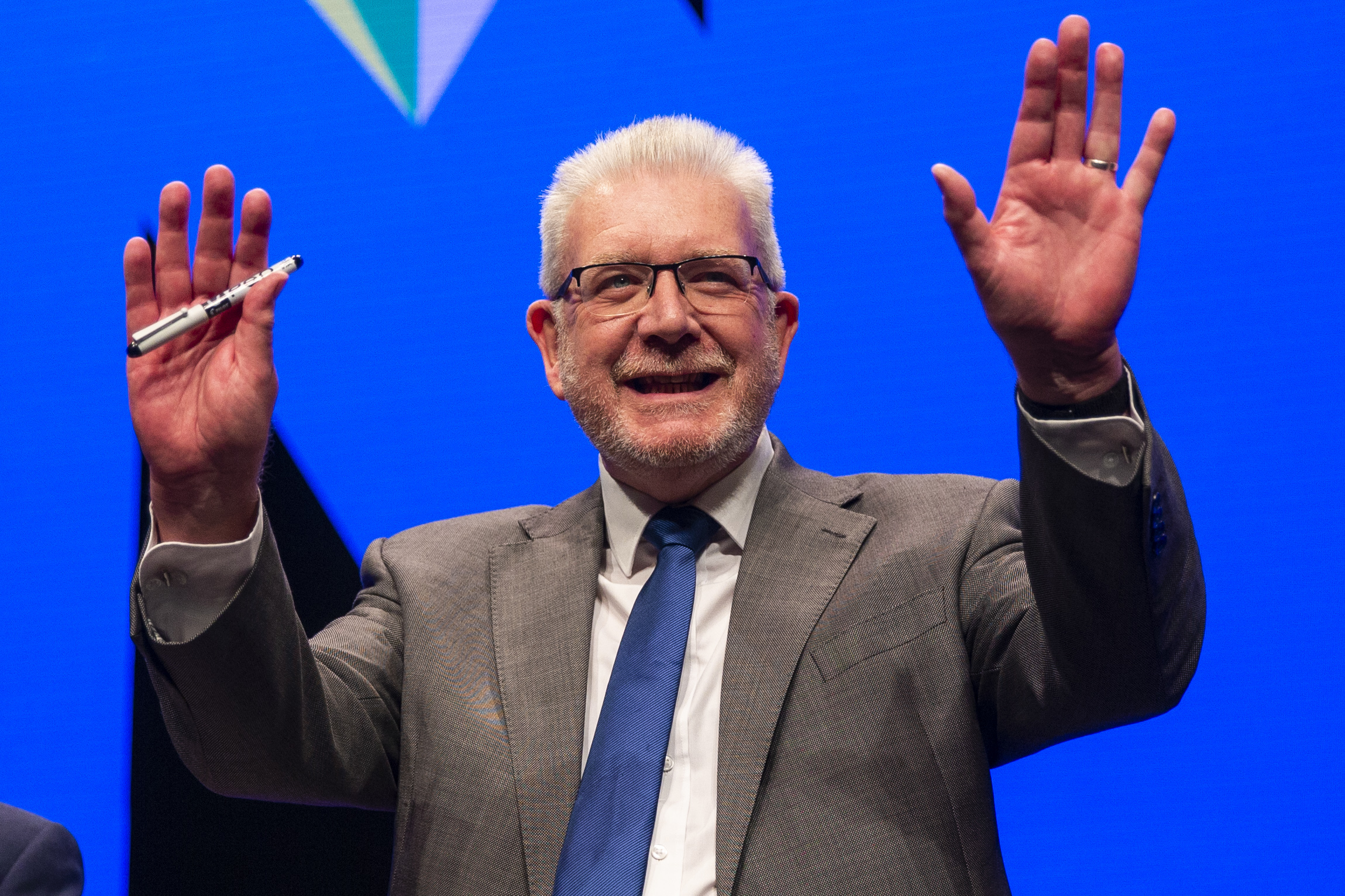 Mike Russell MSP makes his keynote speech at the  annual SNP conference (Duncan McGlynn/Getty Images)