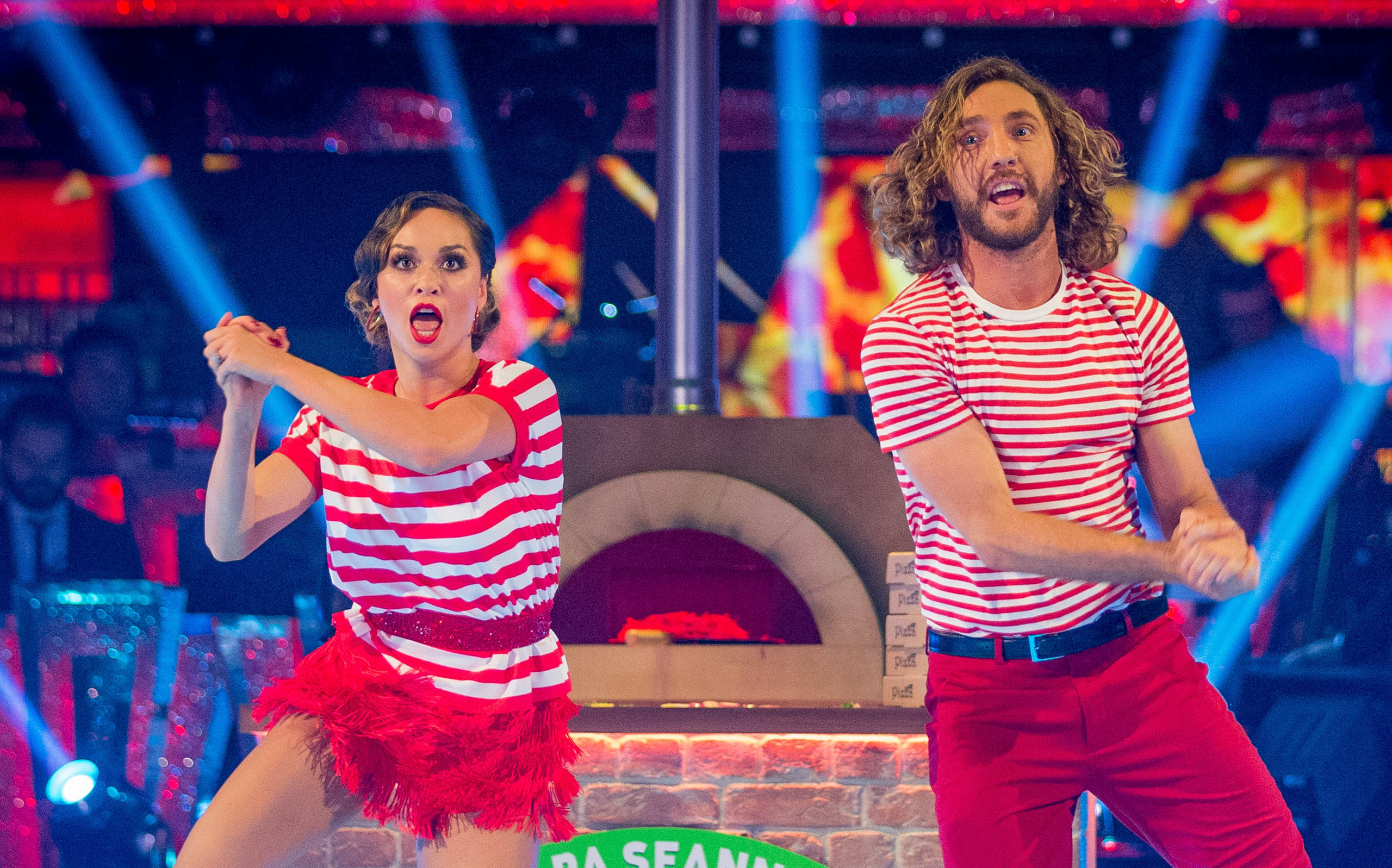 Katya and Seann perform their routine (Guy Levy / BBC)