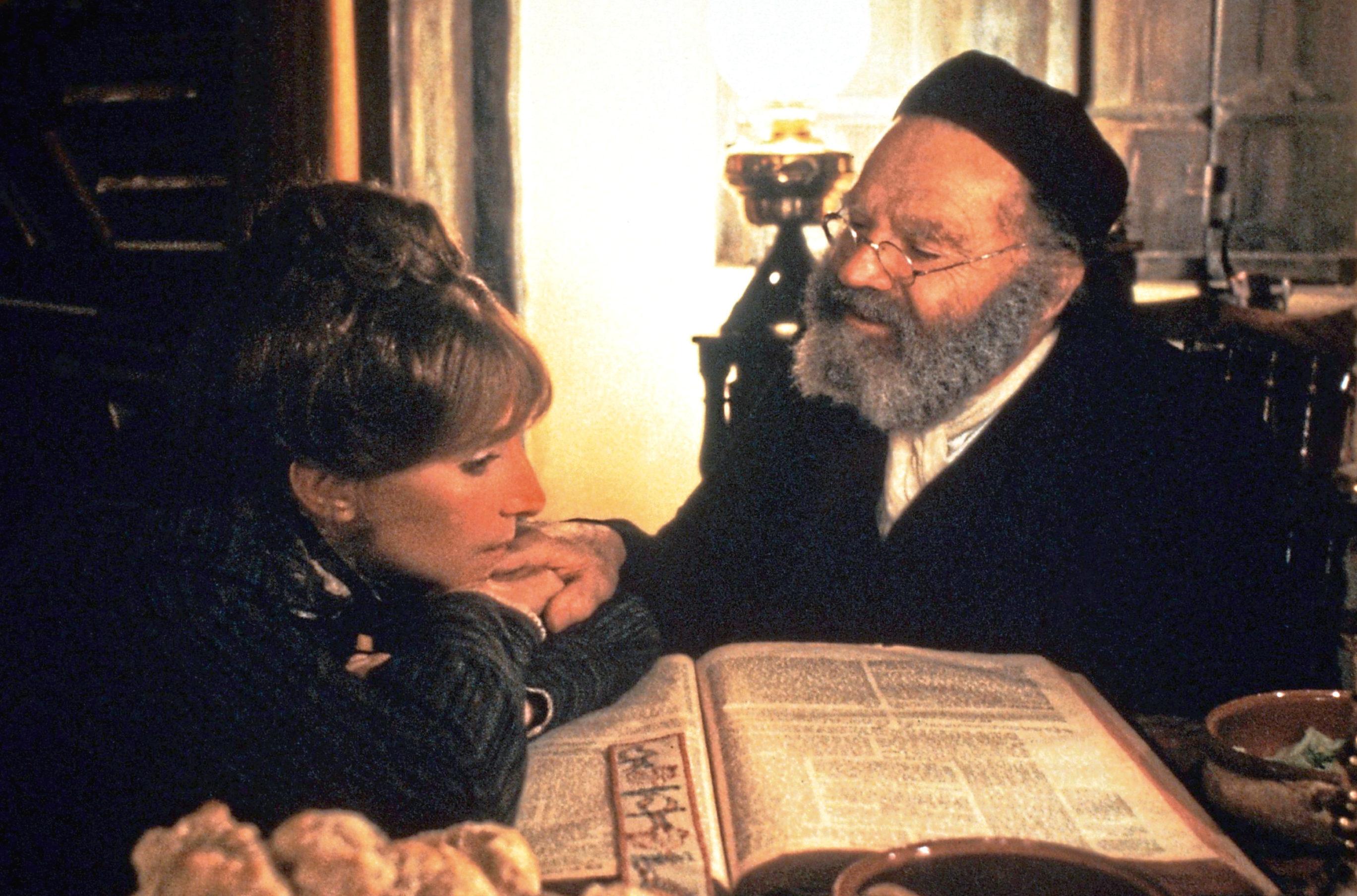 Barbra Streisand and Nehemiah Persoff in Yentl