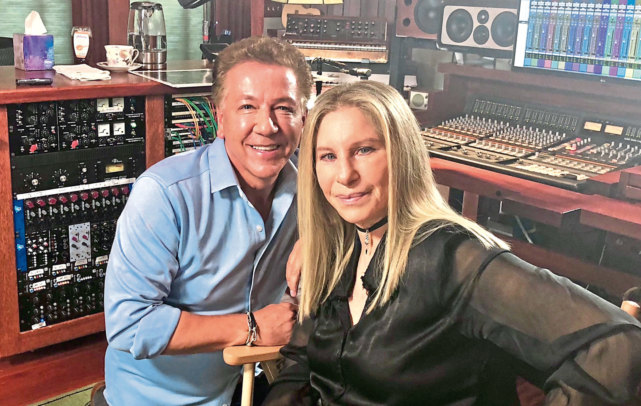 Barbra Streisand, pictured with Ross in LA, is a vociferous critic of Donald Trump.