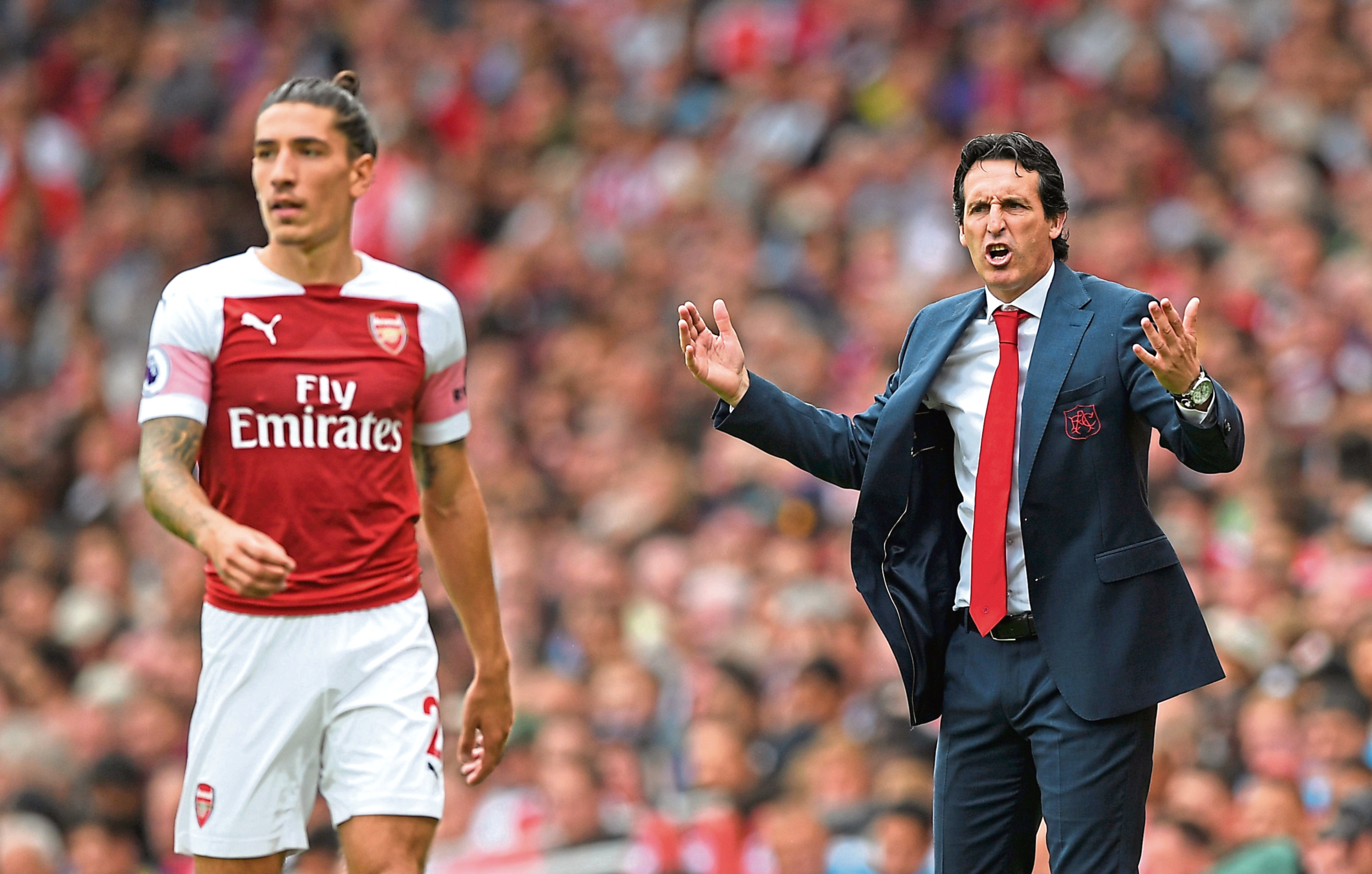 Unai Emery has turned fortunes round at the Emirates this season