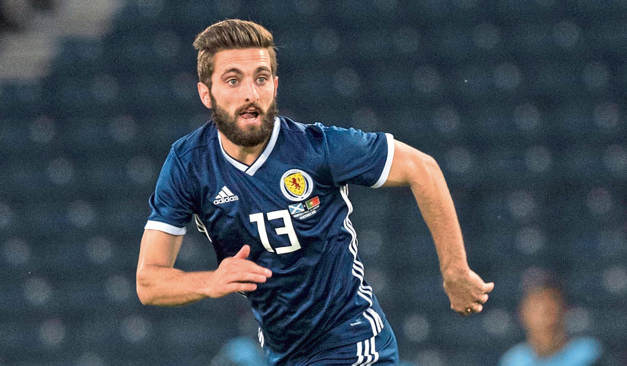 Graeme Shinnie in action for Scotland (SNS Group)