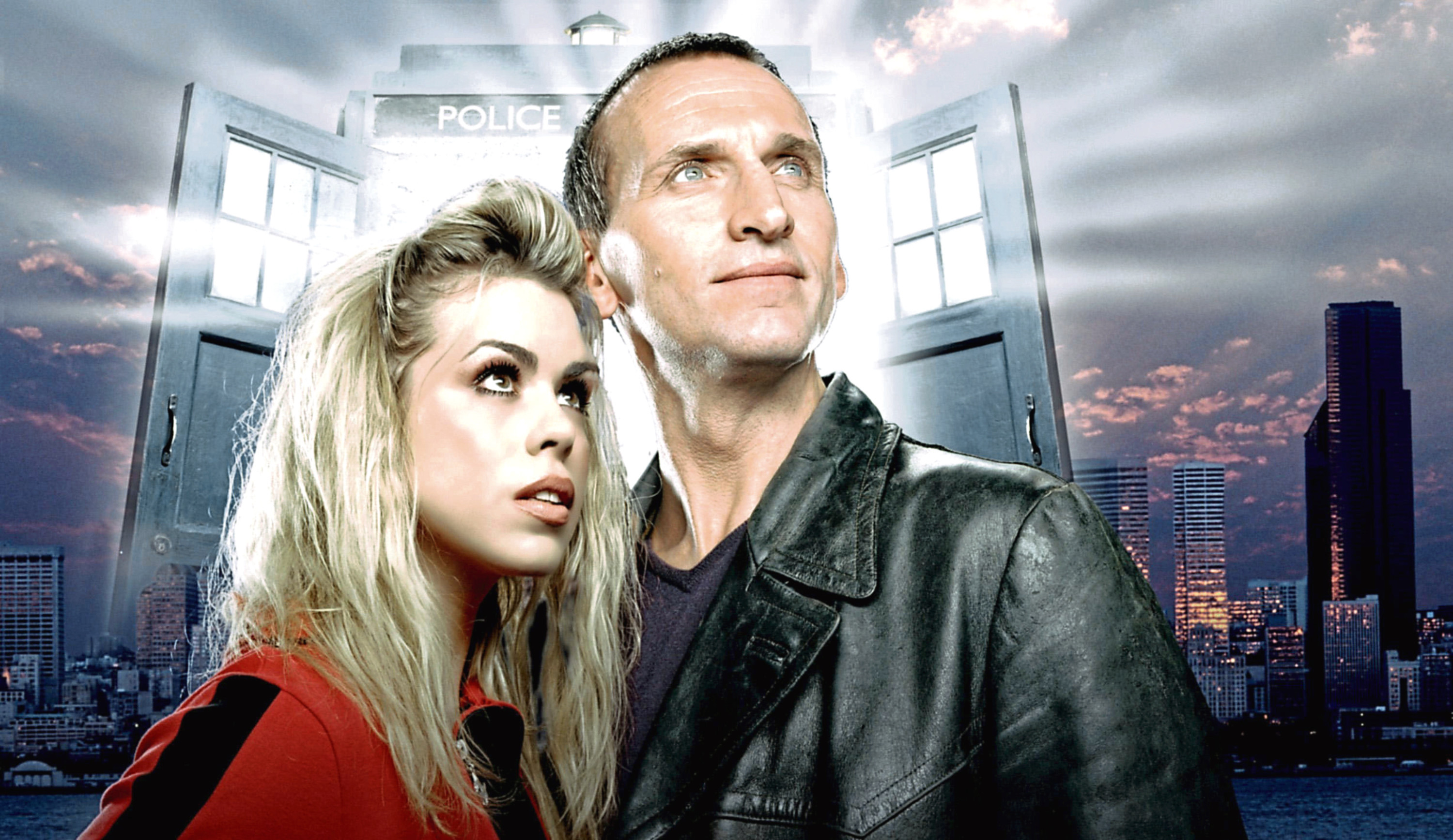 Christopher Eccleston and Billie Piper in the first of the rebooted Doctor Who series