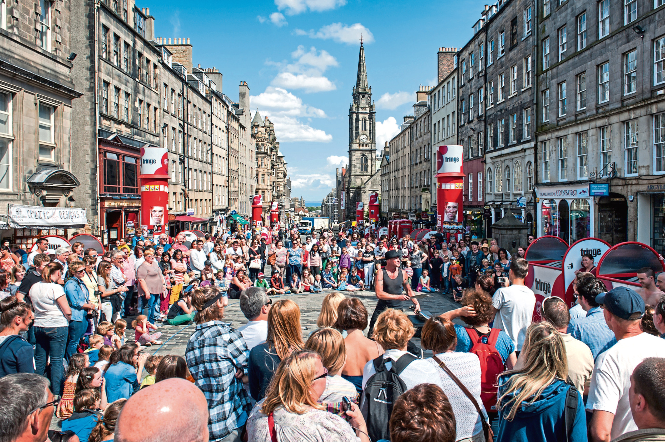 The Edinburgh Fringe Festival attracts tourists from around the globe every year