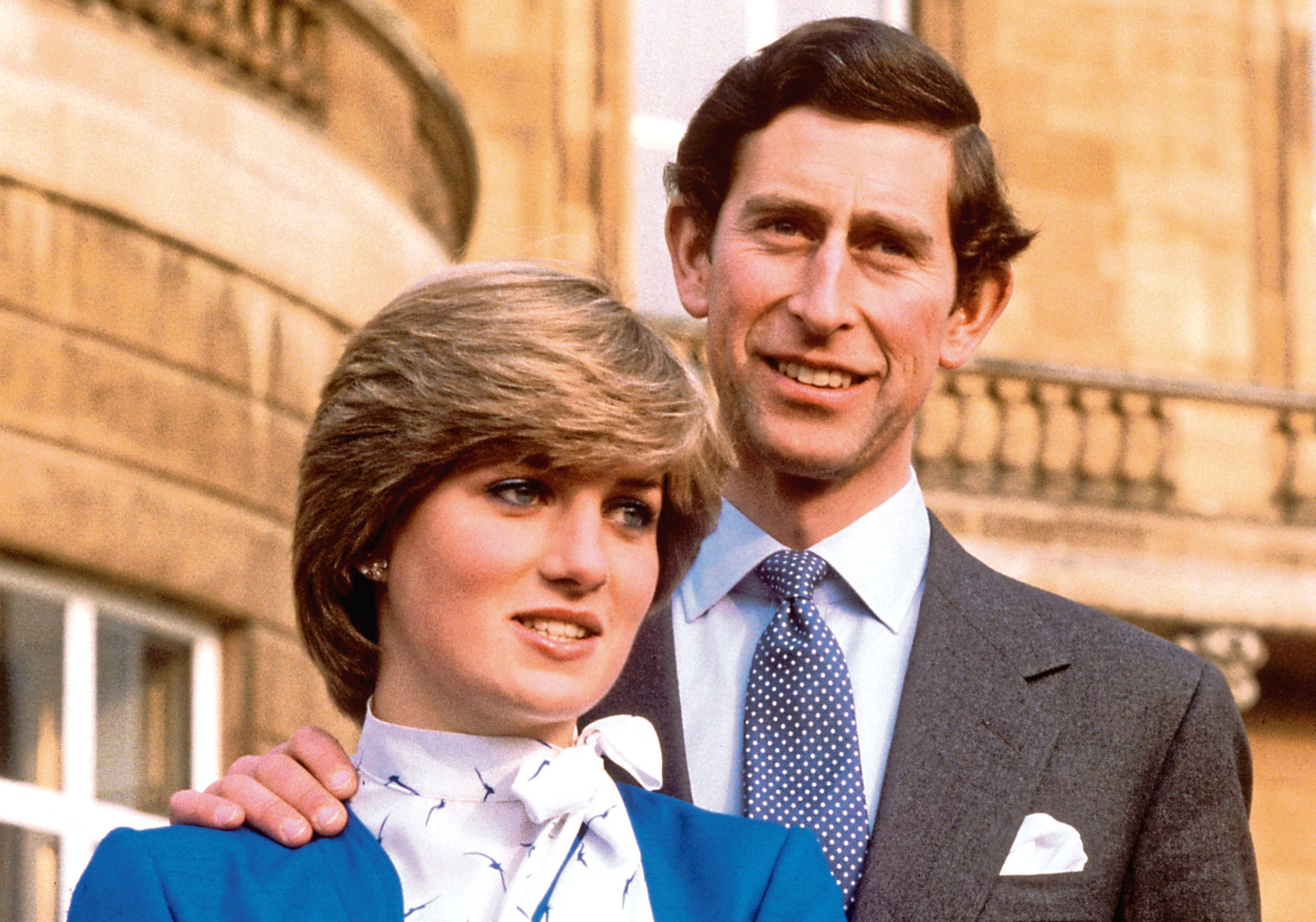 Charles and Diana after the announcement of their engagement