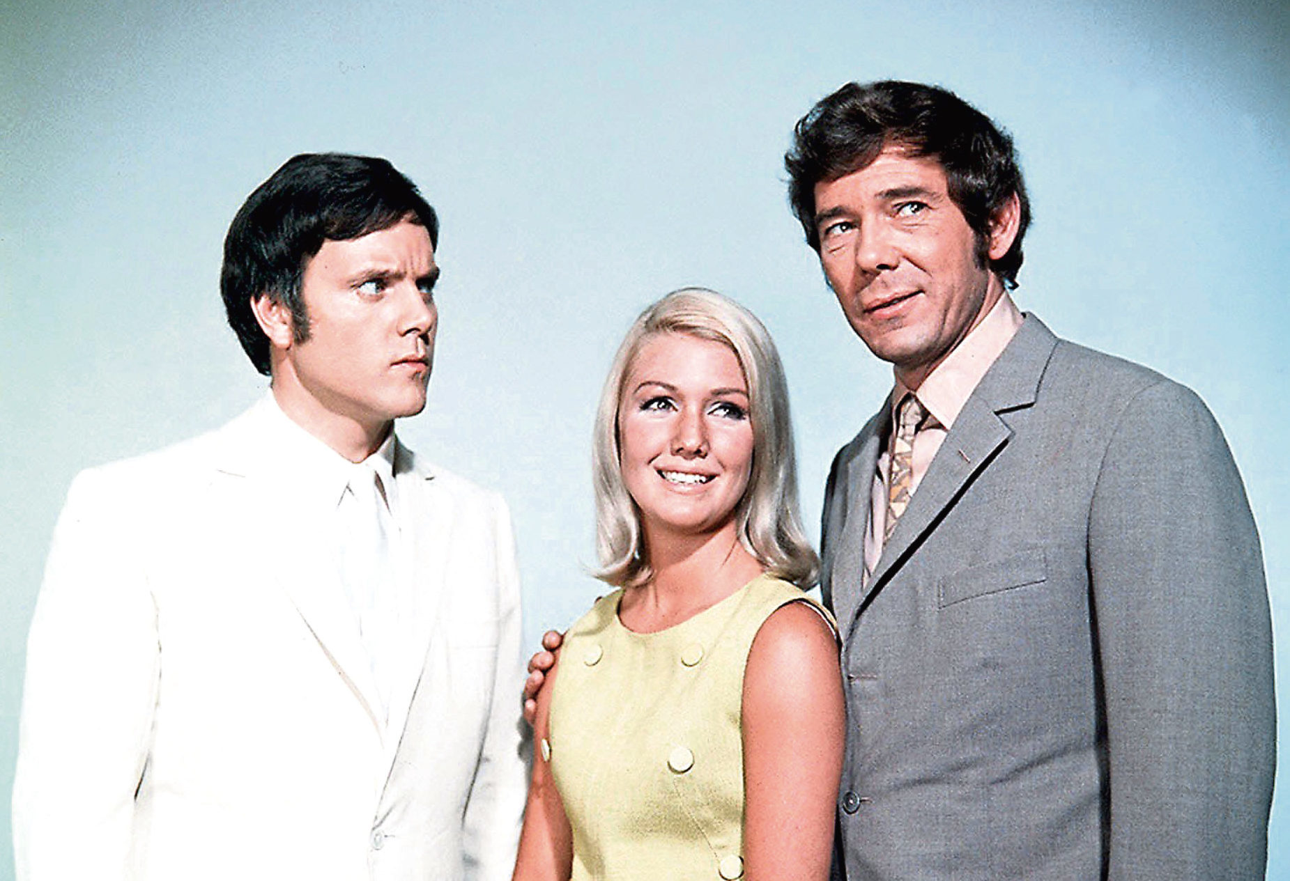 Annette with her co-stars Kenneth Cope and Mike Pratt (ITV)
