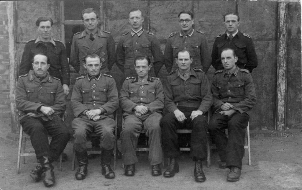 This photograph was taken by Helmut Stenger in Cultybraggan immediately after the end of WW2. Helmut also was a PoW in Cultybraggan Camp and spent some time in solitary confinement in the guard room.
