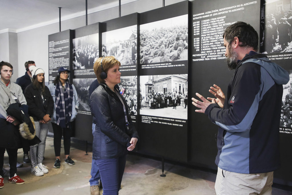 Never be bystanders in face of hate, says Nicola Sturgeon on Auschwitz visit