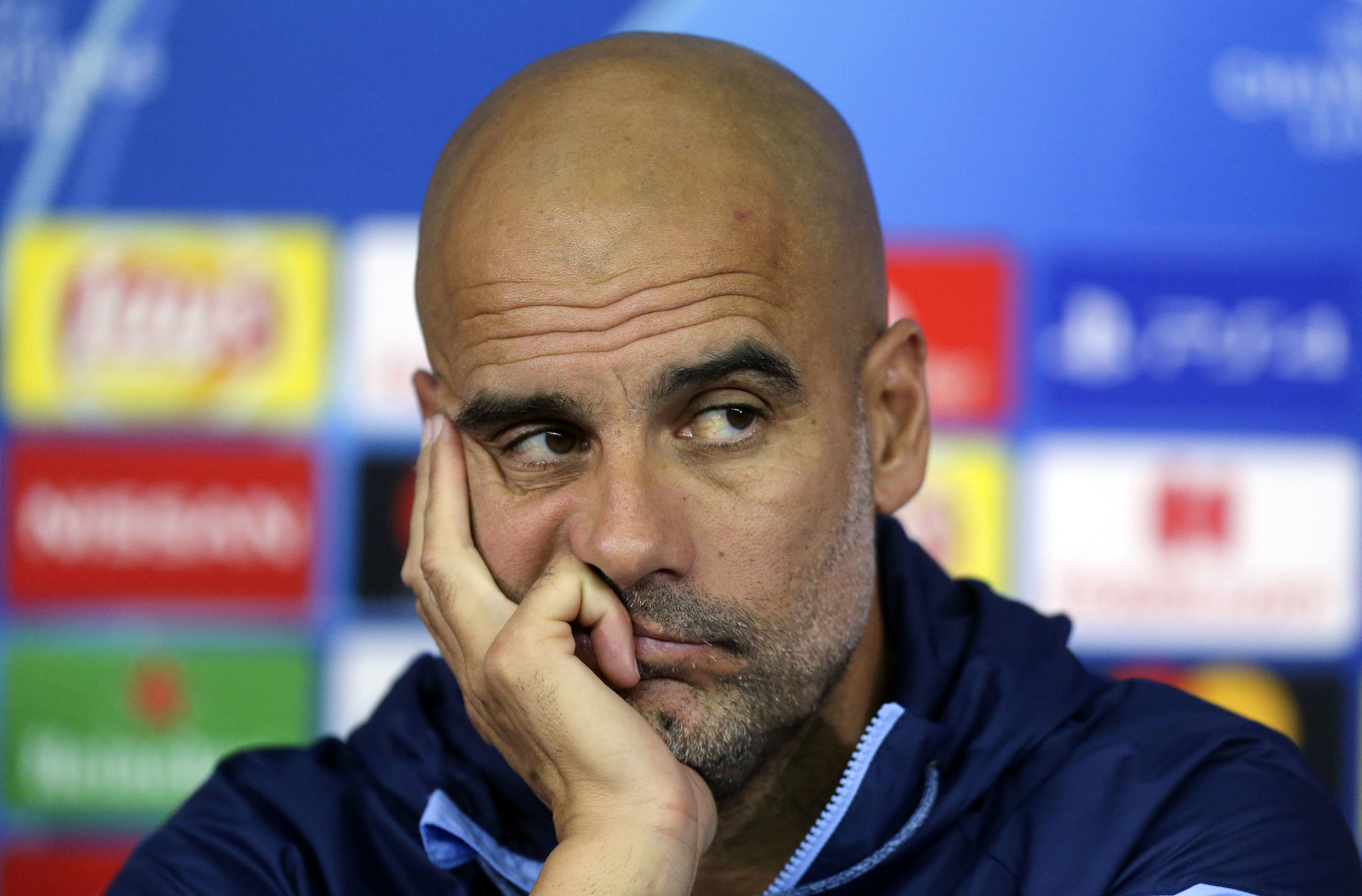Manchester City coach Pep Guardiola (AP Photo/Efrem Lukatsky)