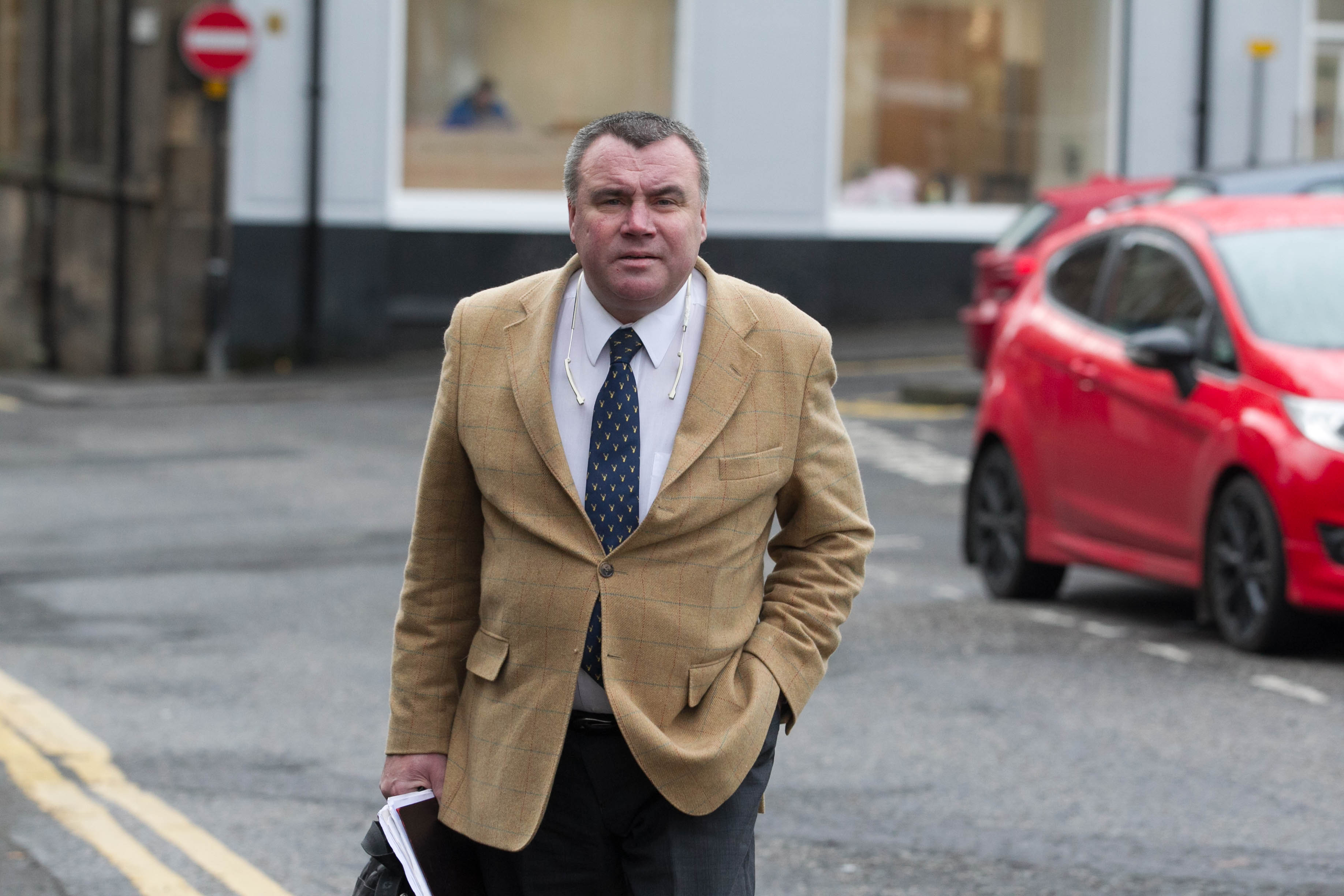 Buisnessman Euan Snowie appears at Stirling Sheriff Court.