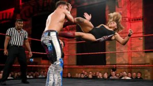 Noam Dar up against Pete Dunne in NXT UK (WWE)