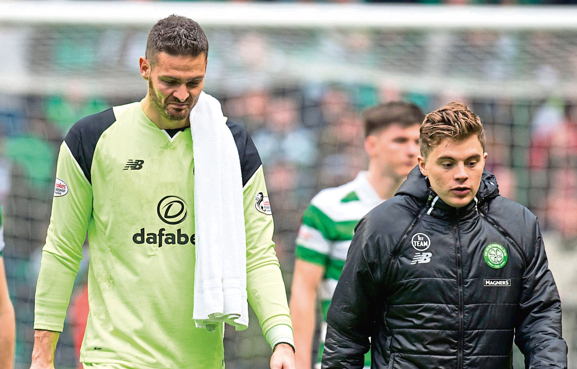 Craig Gordon and James Forrest (SNS Group)