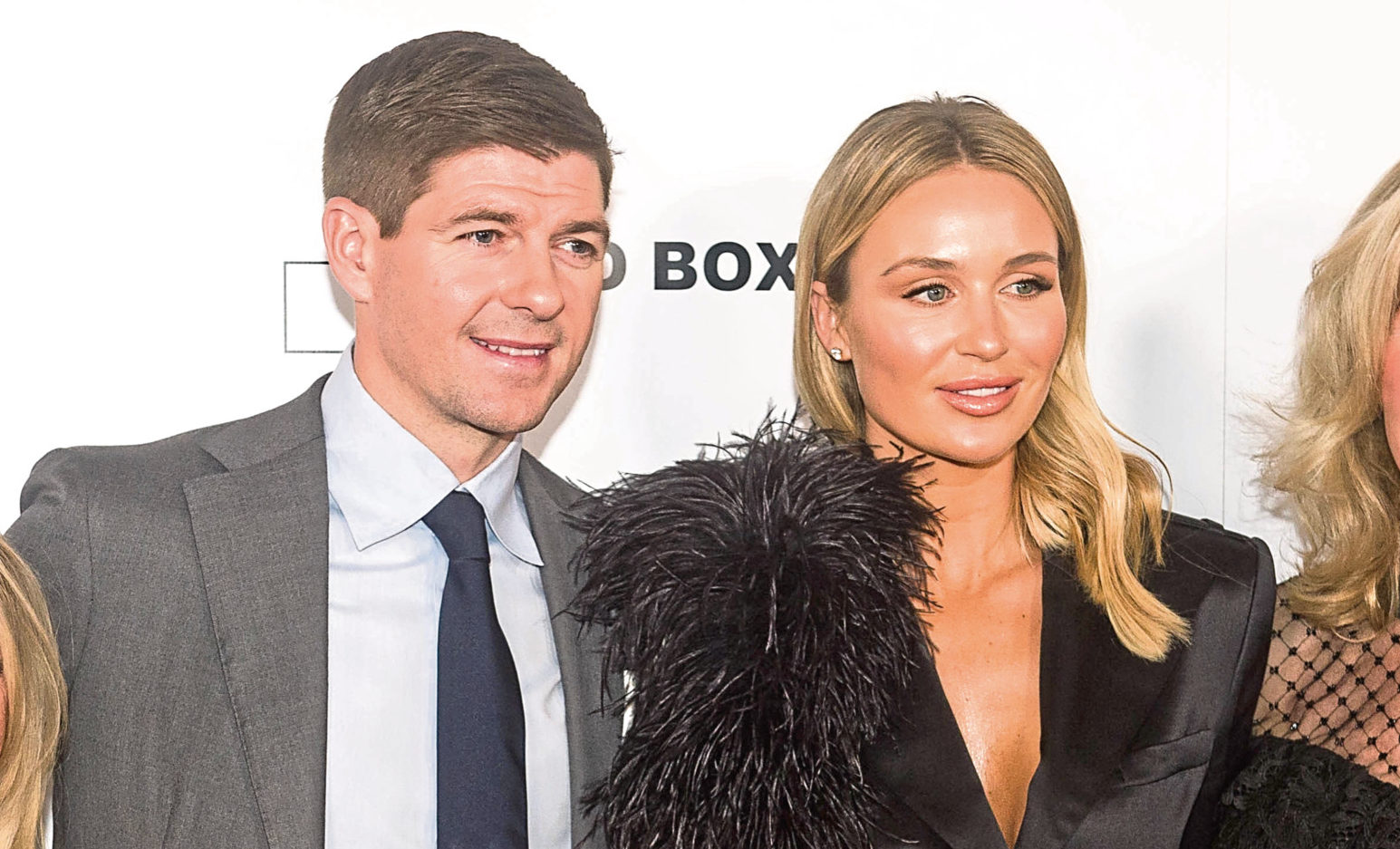 Steven Gerrard and his wife Alex at the premiere of Make Us Dream (Peter Summers / PA Wire)