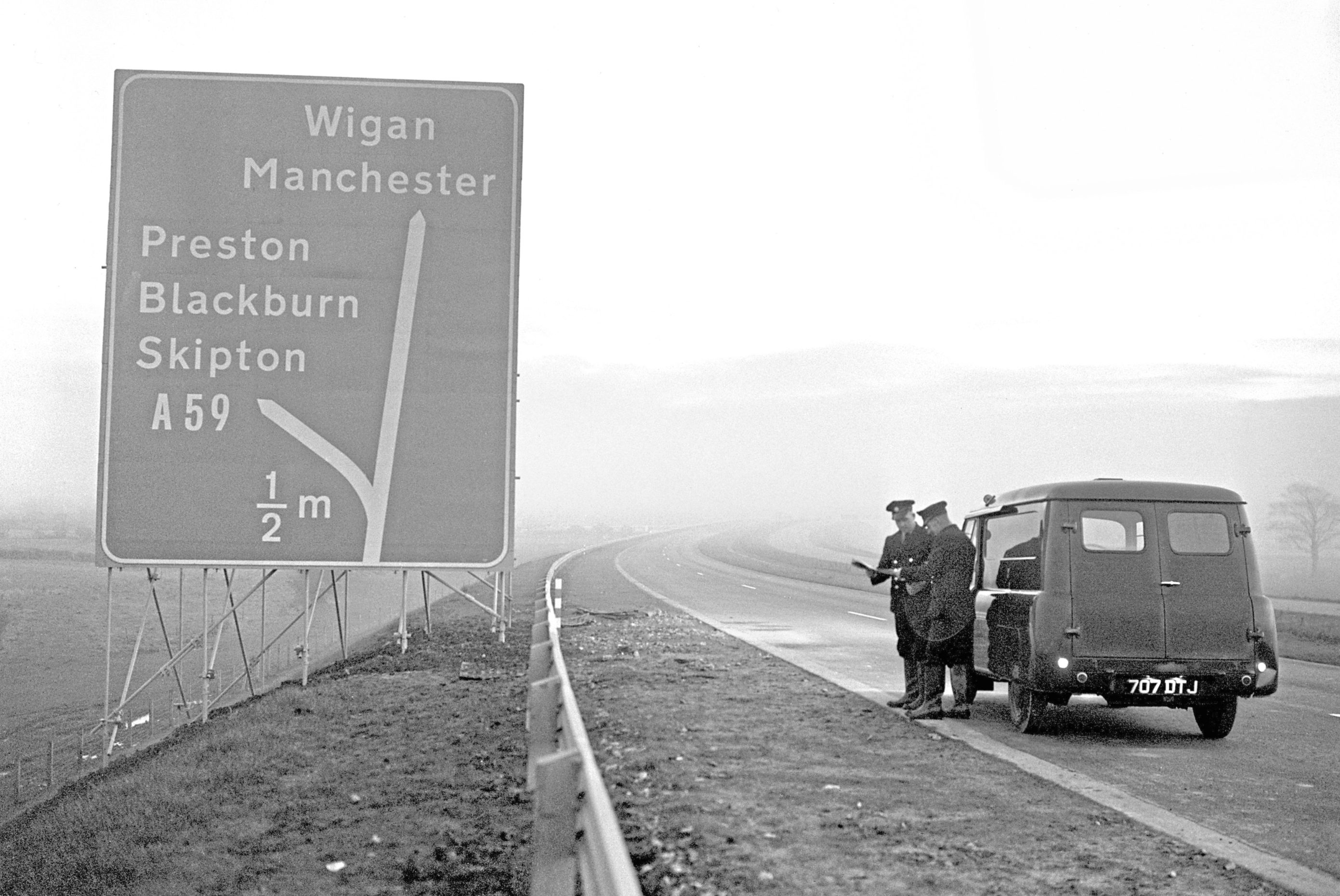 Signs on the new stretch of bypass (PA Archive)