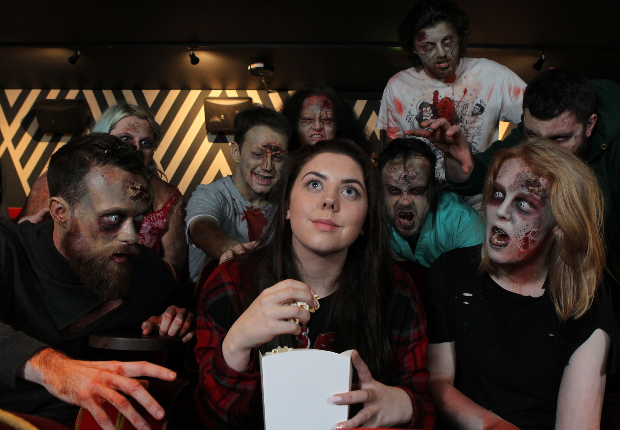 Zombie Christmas Musical.In Pictures Zombies Take Over Glasgow Shopping Centre To