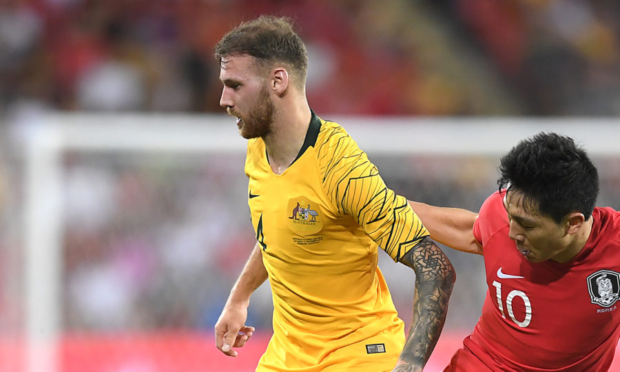 Hibs star Martin Boyle nets his first worldwide  goals for Australia