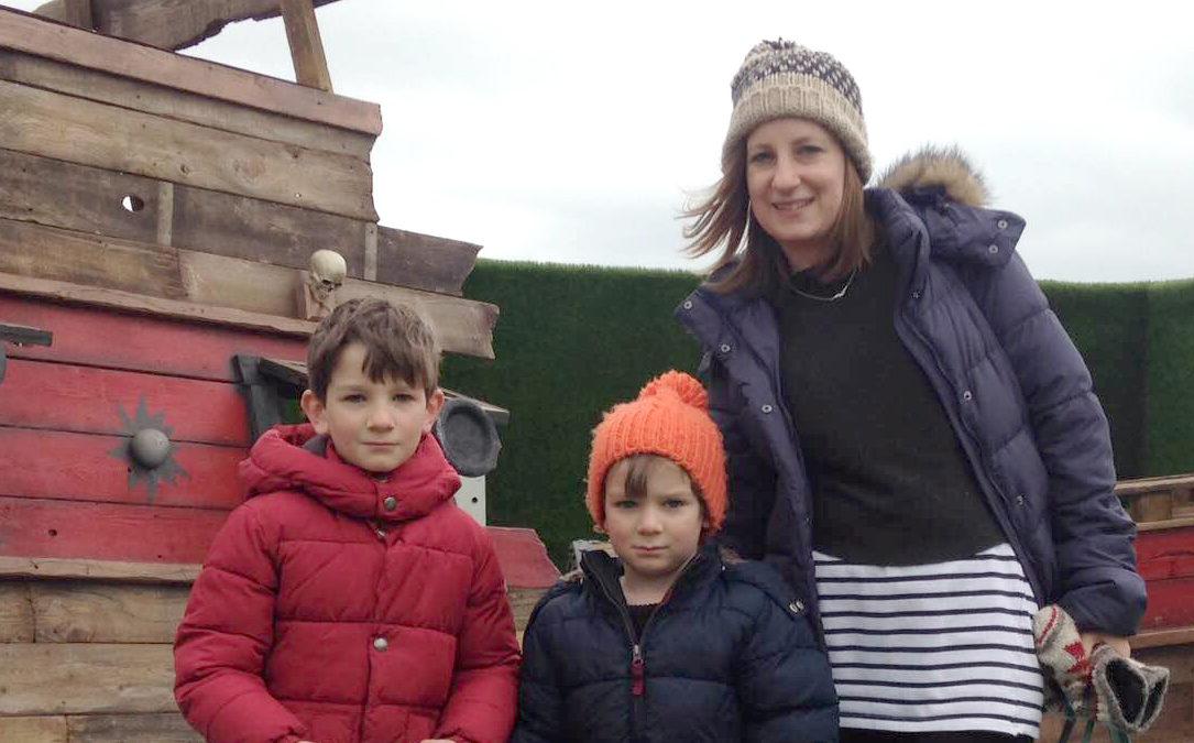 Emma Casey and kids Alfie and Joe