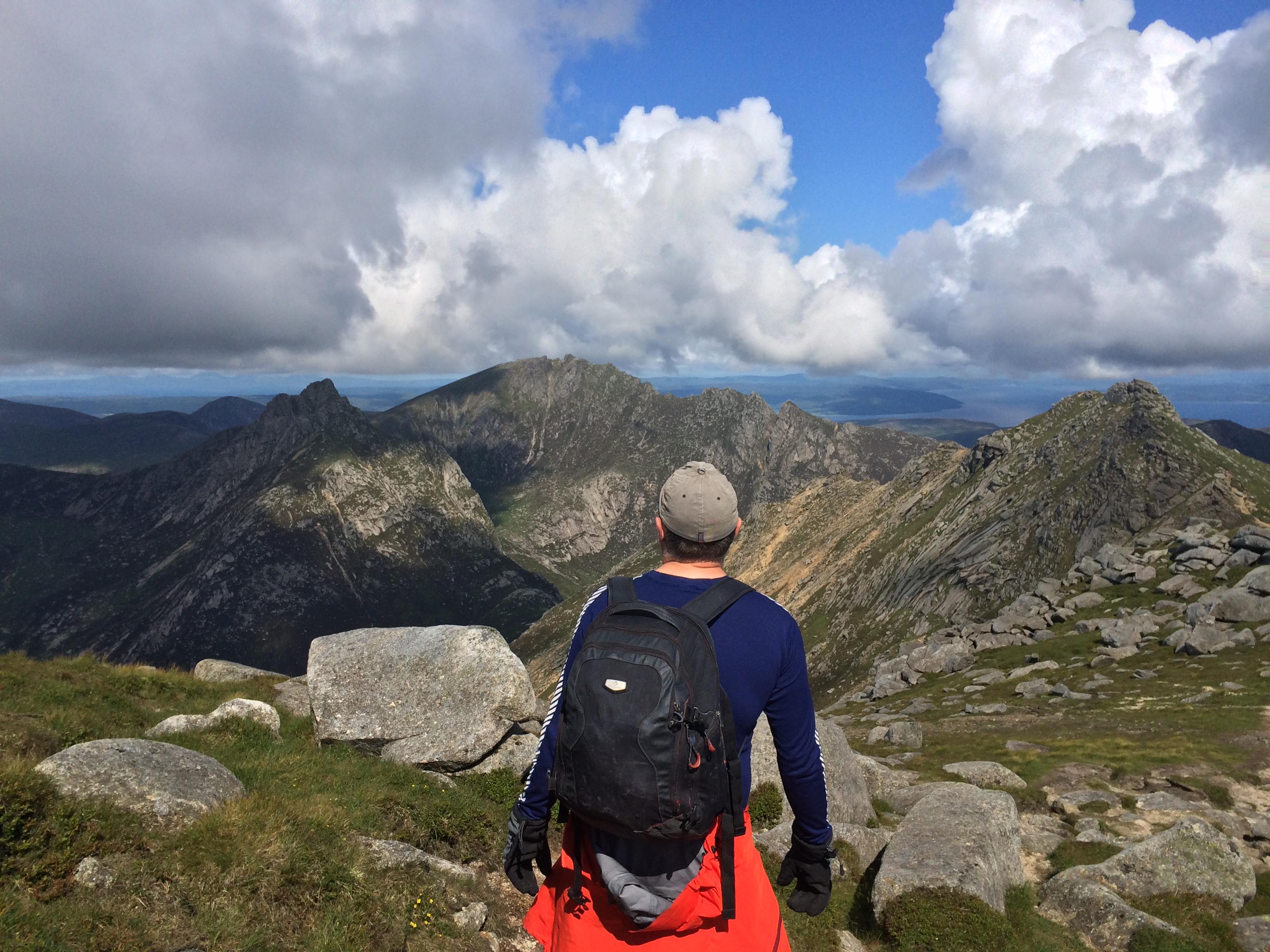 Travel writer Robin hiking on Arran