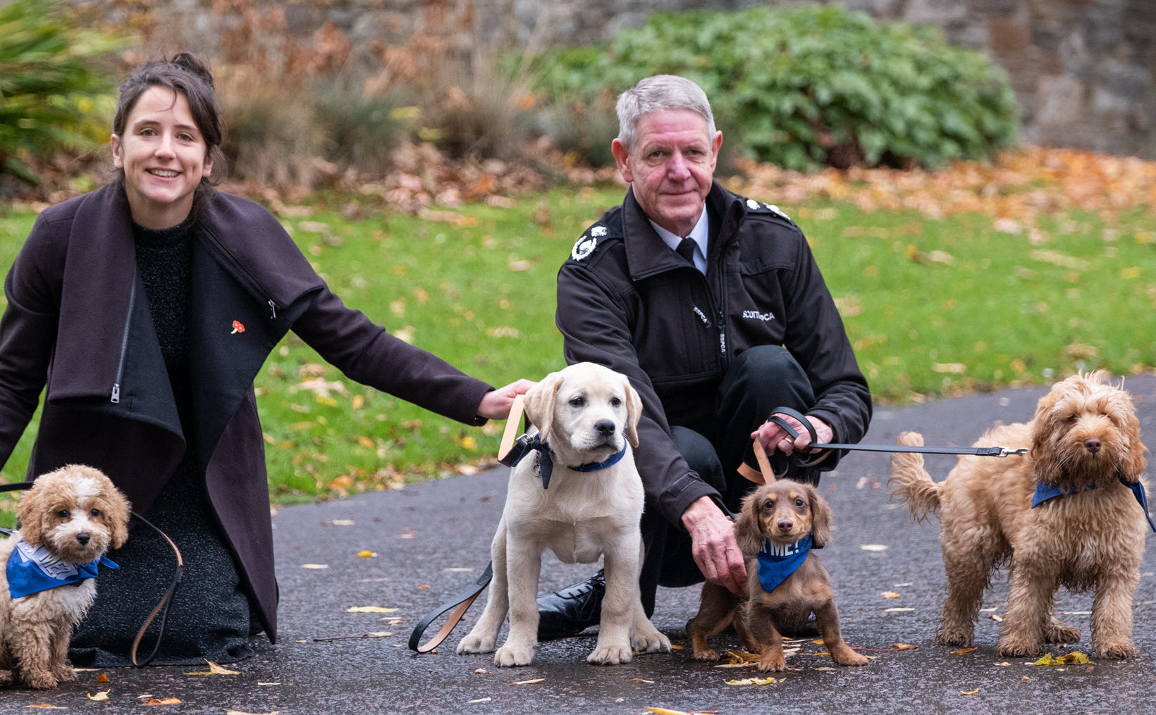 Buy a Puppy Safely campaign was launched by the Minister for Rural Affairs and Natural Environment, Mairi Gougeon in Edinburgh with support from Mike Flynn, Scottish SPCA Chief Superintendent. (Tony Marsh).