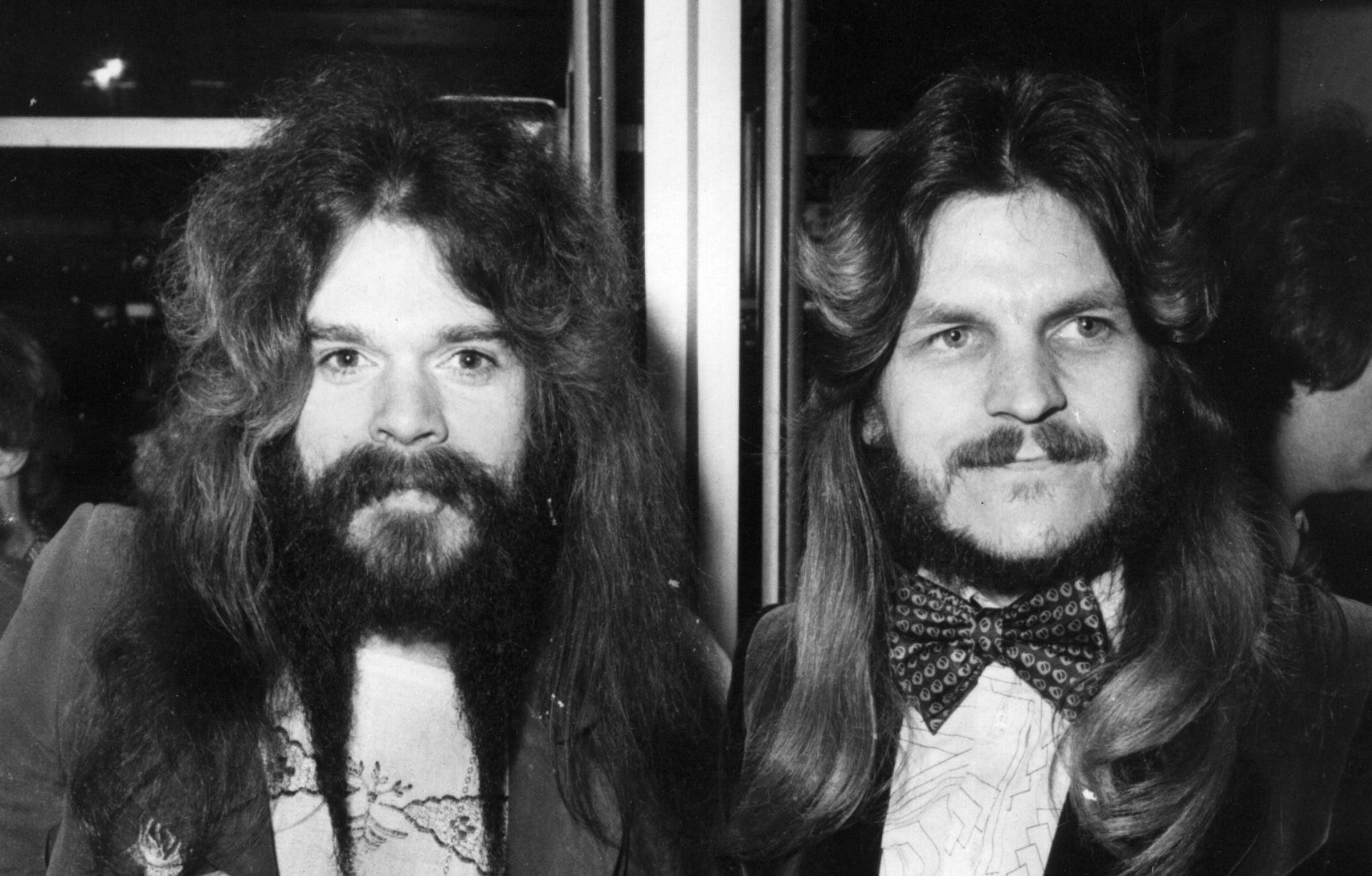 Wizzard's Roy Wood and Rick Price, 1975 (Central Press / Getty Images)