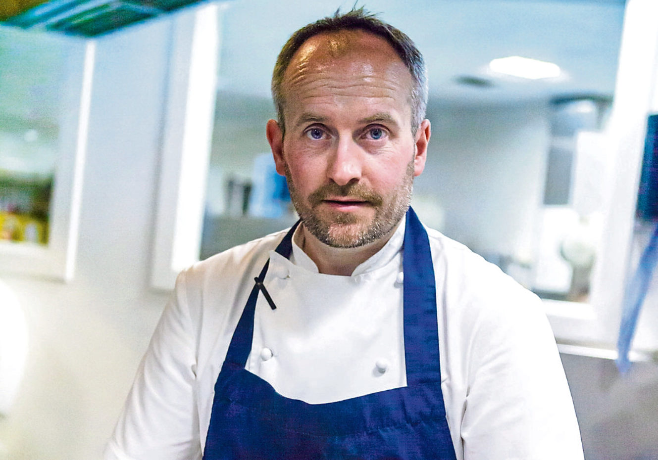 Stephen McLaughlin. Head chef at Andrew Fairlie restaurant at the Gleneagles Hotel.