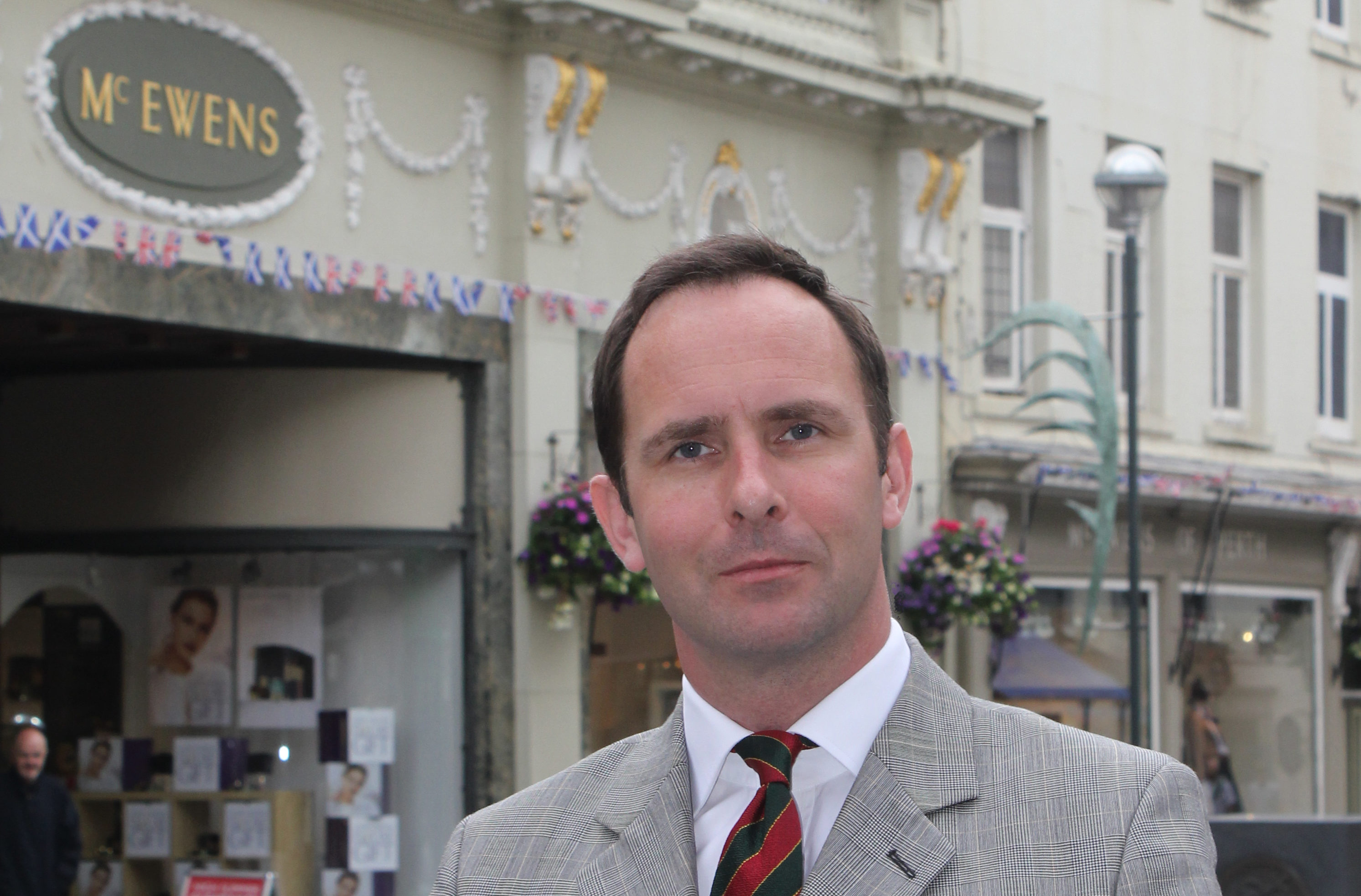 John Bullough of McEwens of Perth outside the family-owned department store in Perth before it was forced to close in 2016