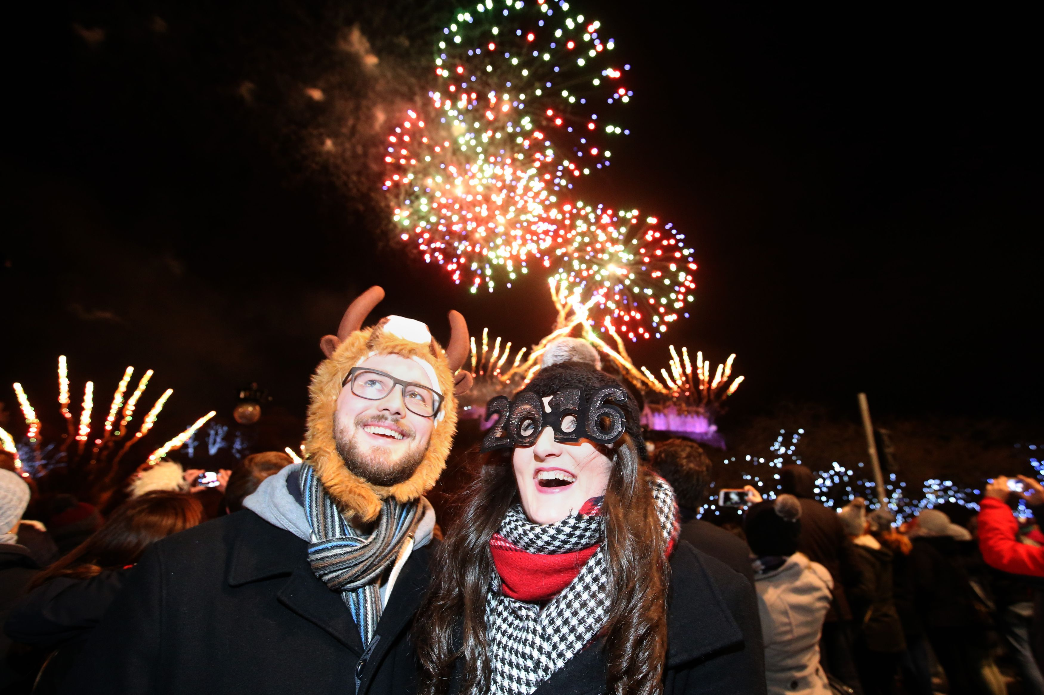 New Year celebrations in Edinburgh (Andrew Milligan / PA Wire)