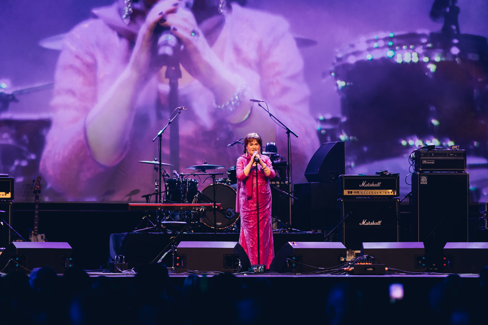 Susan Boyle performs on the night