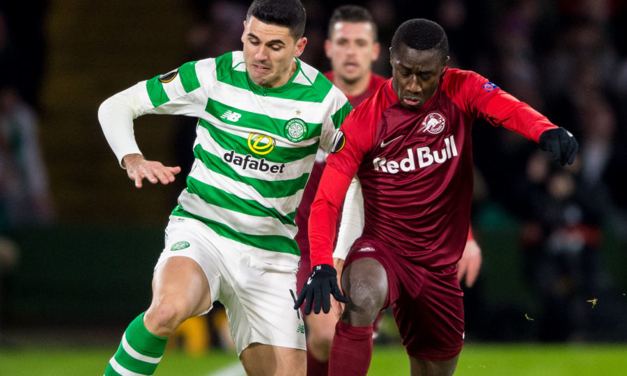 Celtic lose but scrape through to Europa League knockout stage