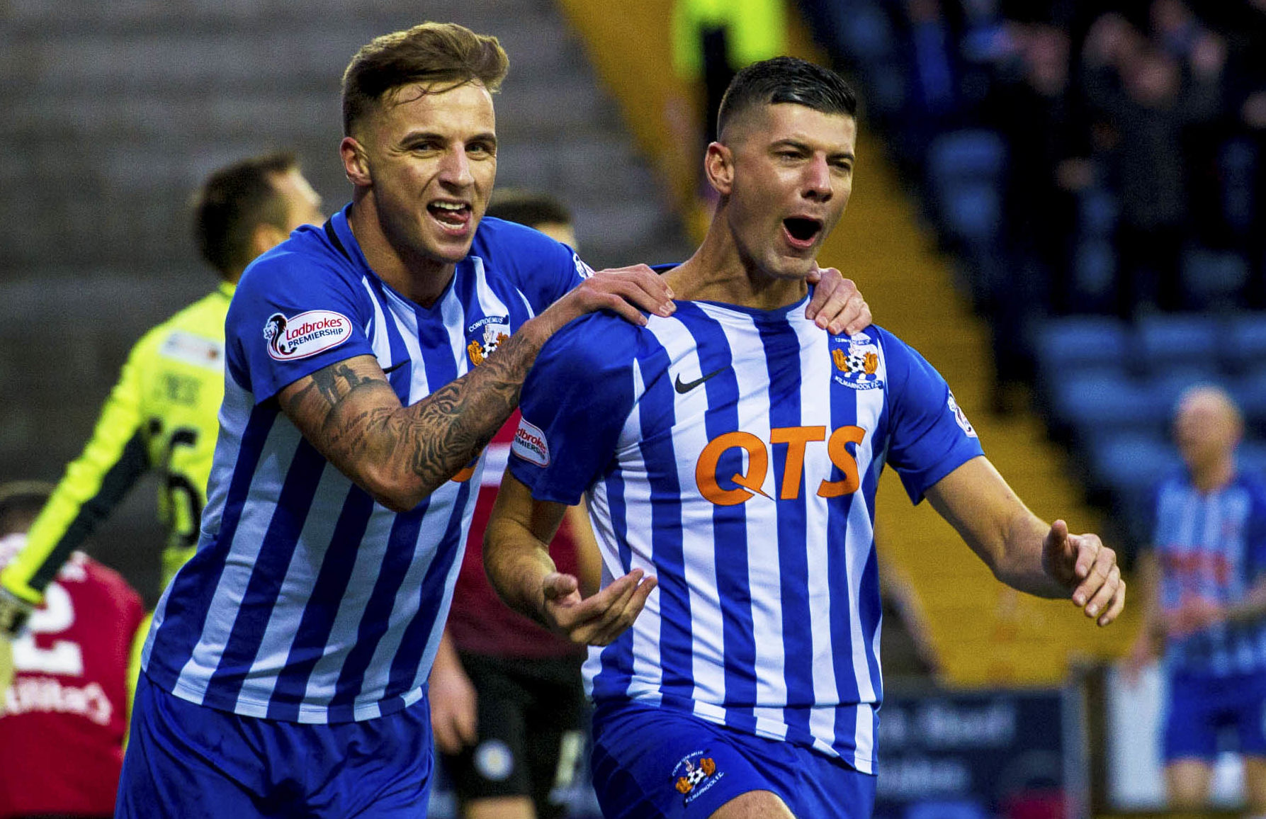 The form of Greg Stewart and Jordan Jones has put Kilmarnock in the title race (SNS Group)