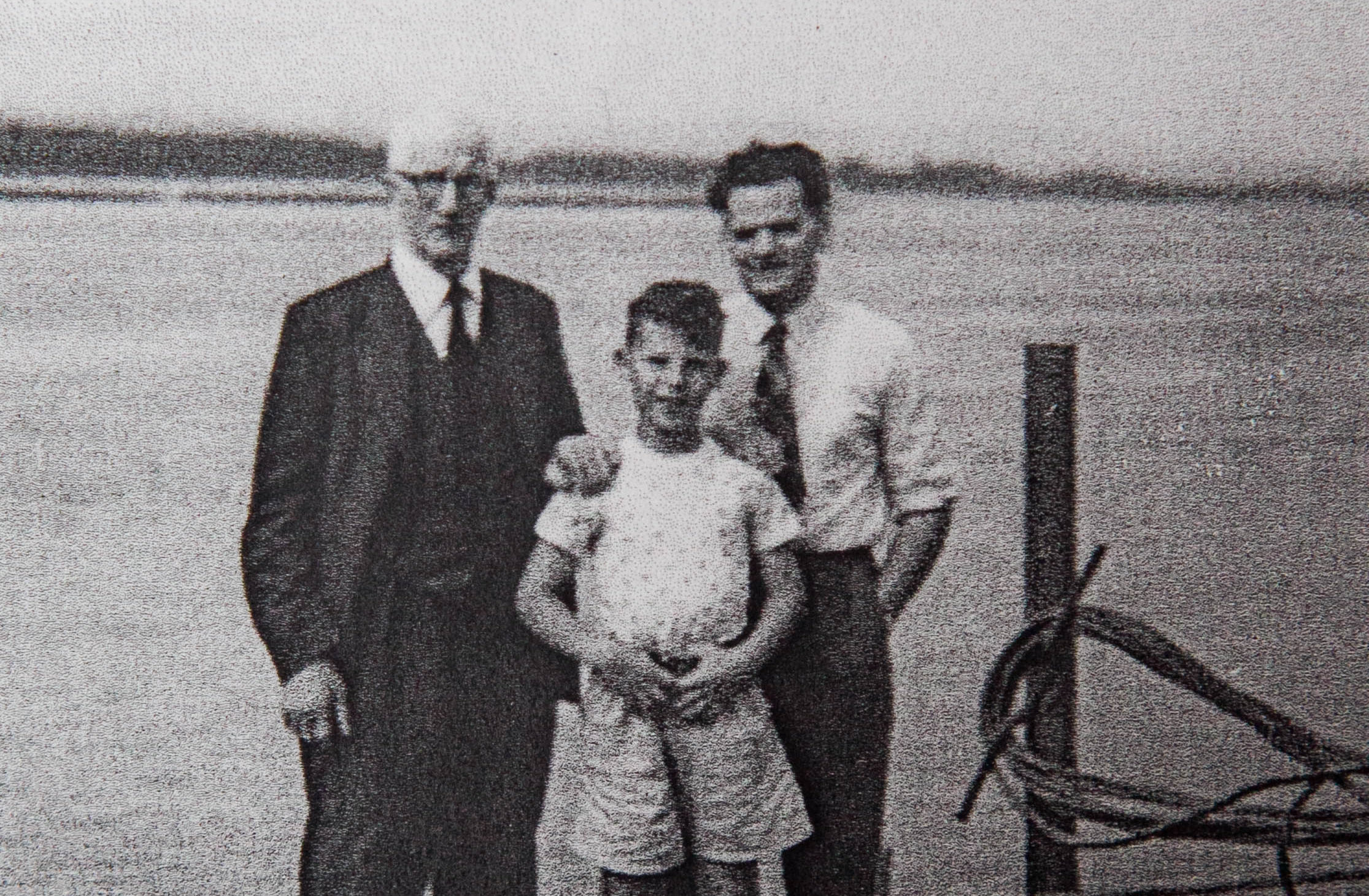 Henry with his dad and grandfather.