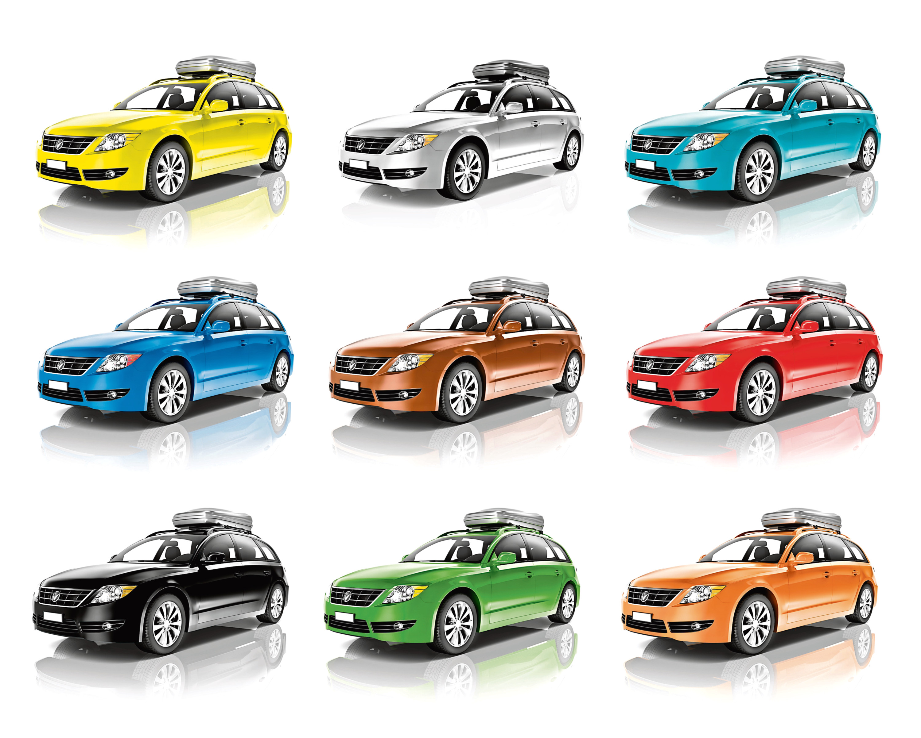 Collection of Colourful 3D Family Cars.